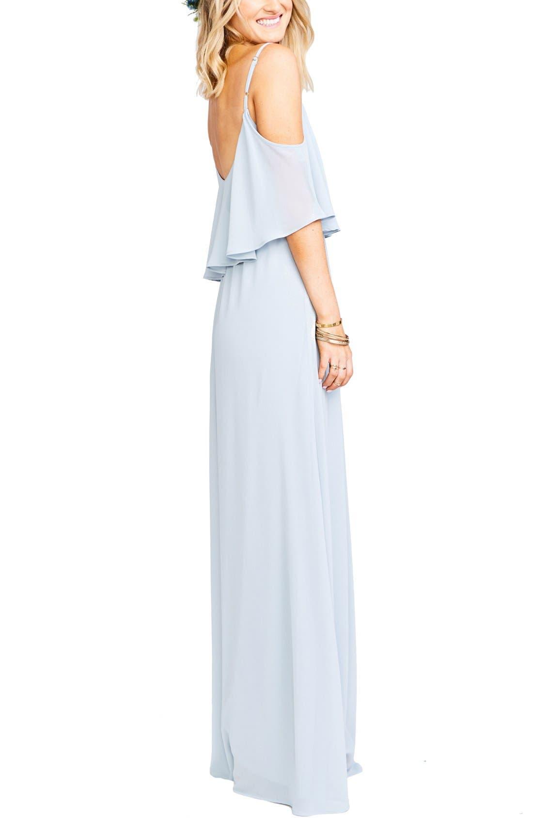 Caitlin Cold Shoulder Chiffon Gown,                             Alternate thumbnail 49, color,
