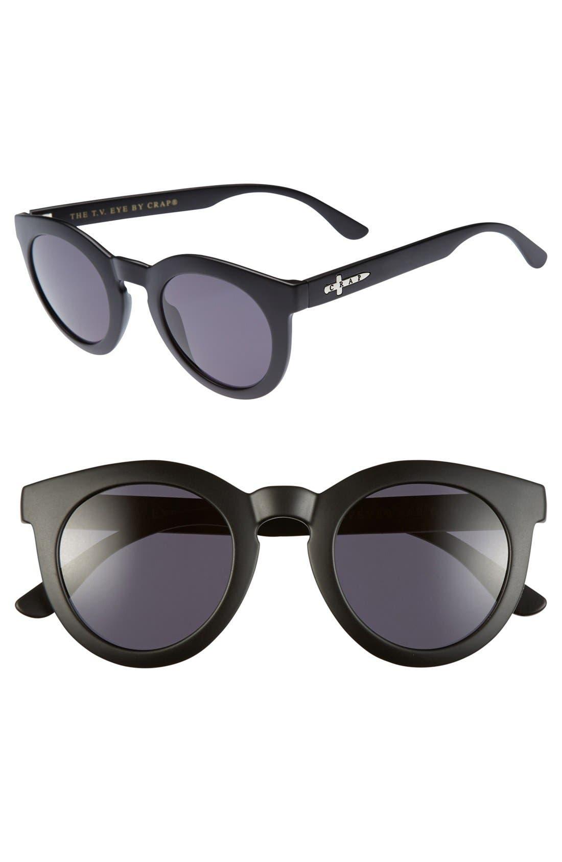 'The T.V. Eye' 55mm Sunglasses,                             Main thumbnail 1, color,                             001