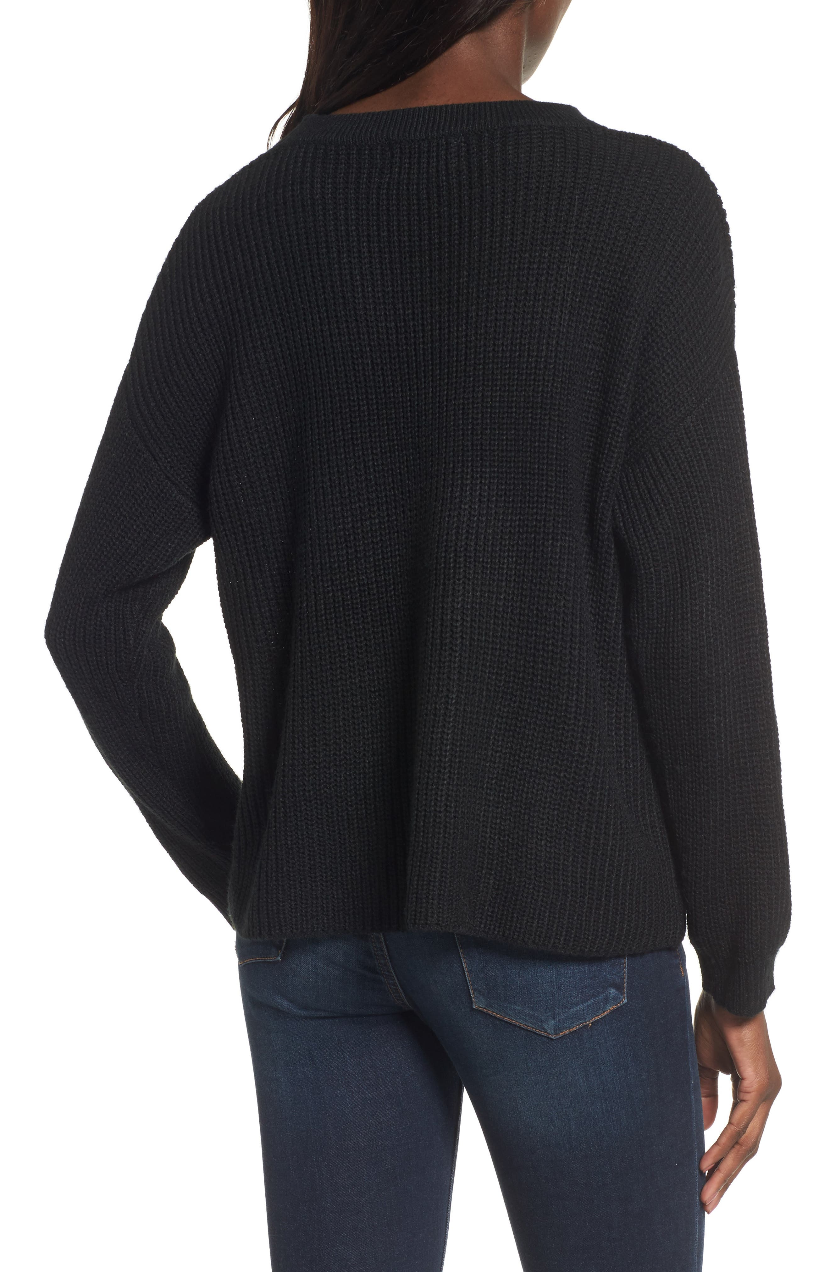Madison Cutout Sweater,                             Alternate thumbnail 2, color,                             001