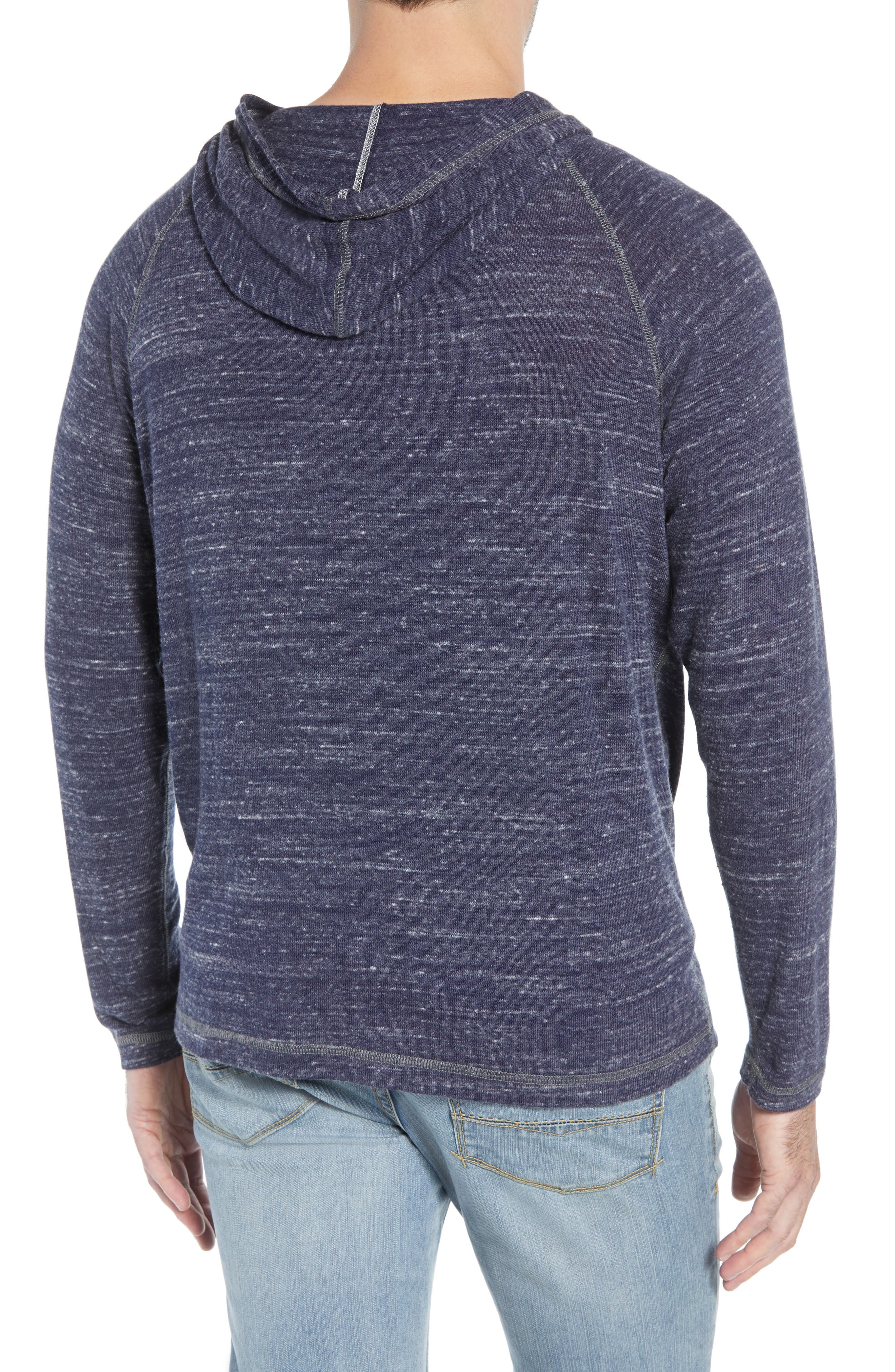 Leeward Cove Regular Fit Hoodie,                             Alternate thumbnail 2, color,                             OCEAN DEEP HEATHER