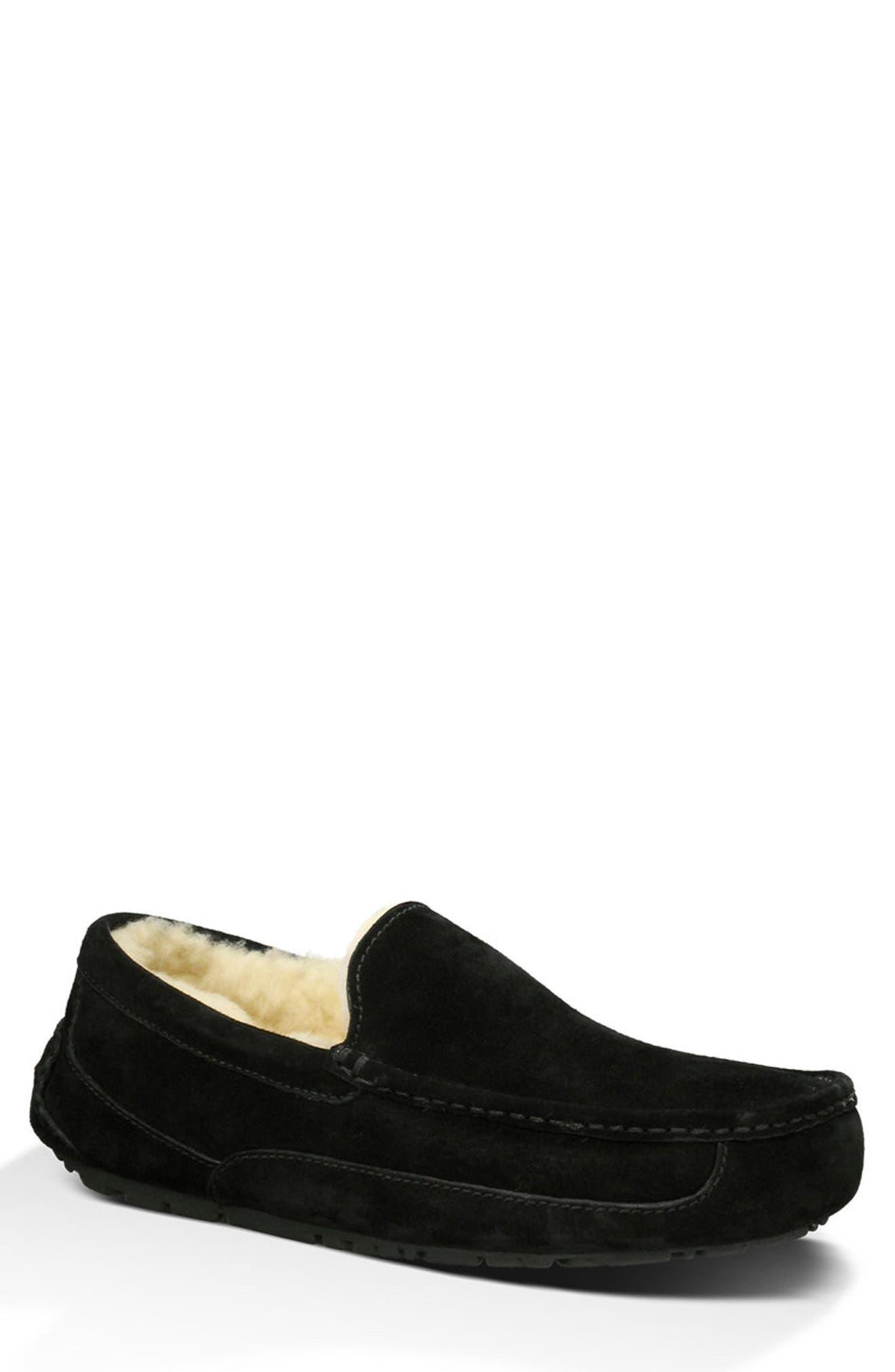Ascot Slipper,                         Main,                         color, BLACK SUEDE