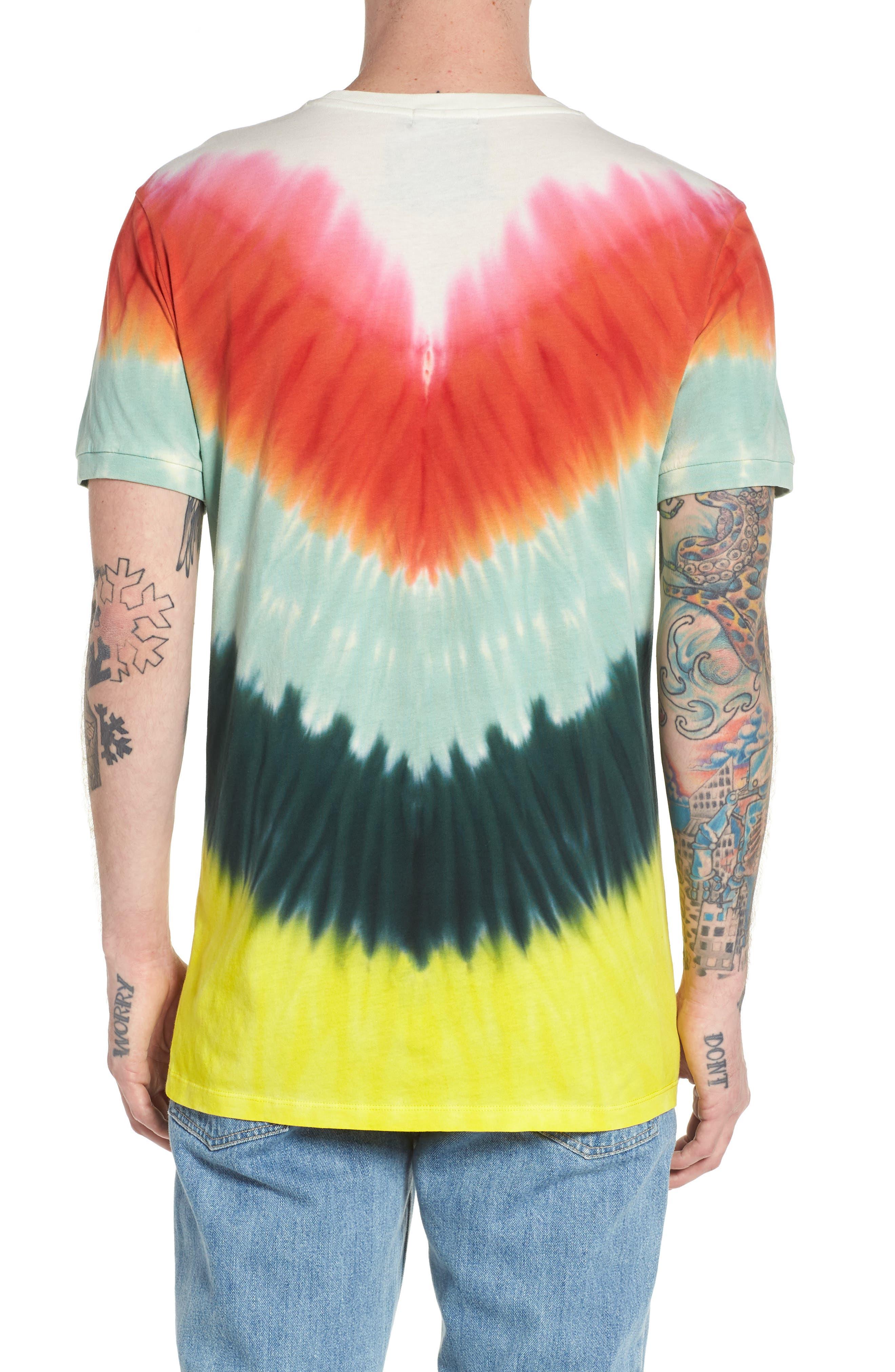 Tye Dye Graphic T-Shirt,                             Alternate thumbnail 2, color,                             MULTI COLOR