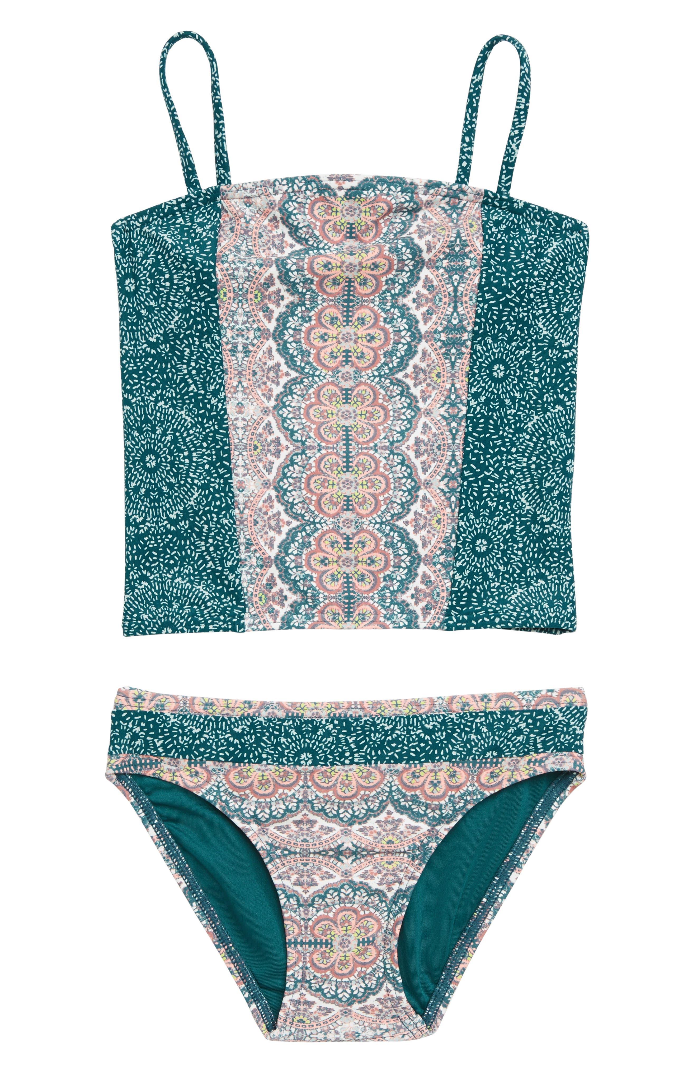 Fleetwood Two-Piece Swimsuit,                             Main thumbnail 1, color,                             MULTI
