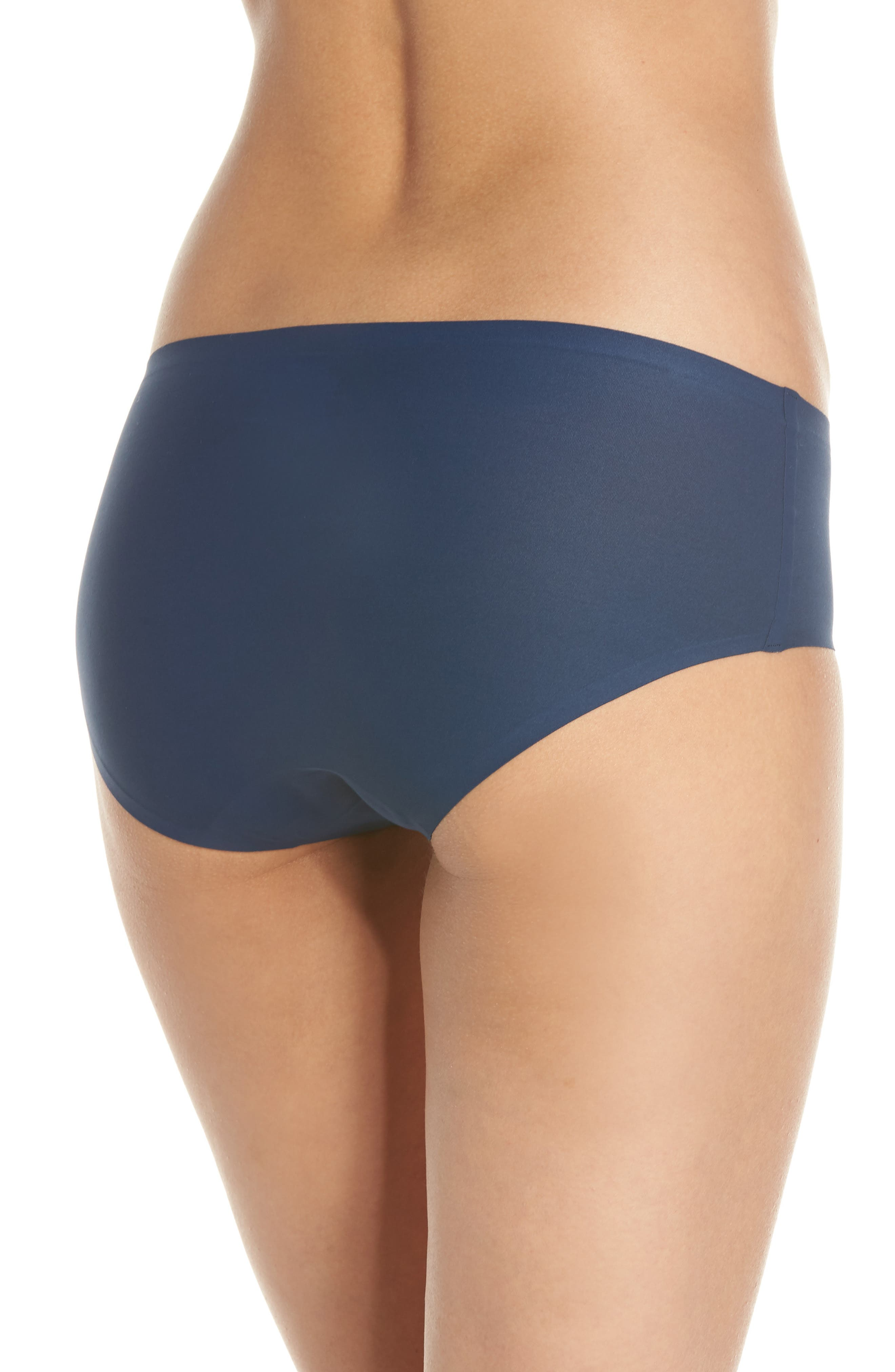 Soft Stretch Seamless Hipster Panties,                             Alternate thumbnail 2, color,                             DEEP BLUE