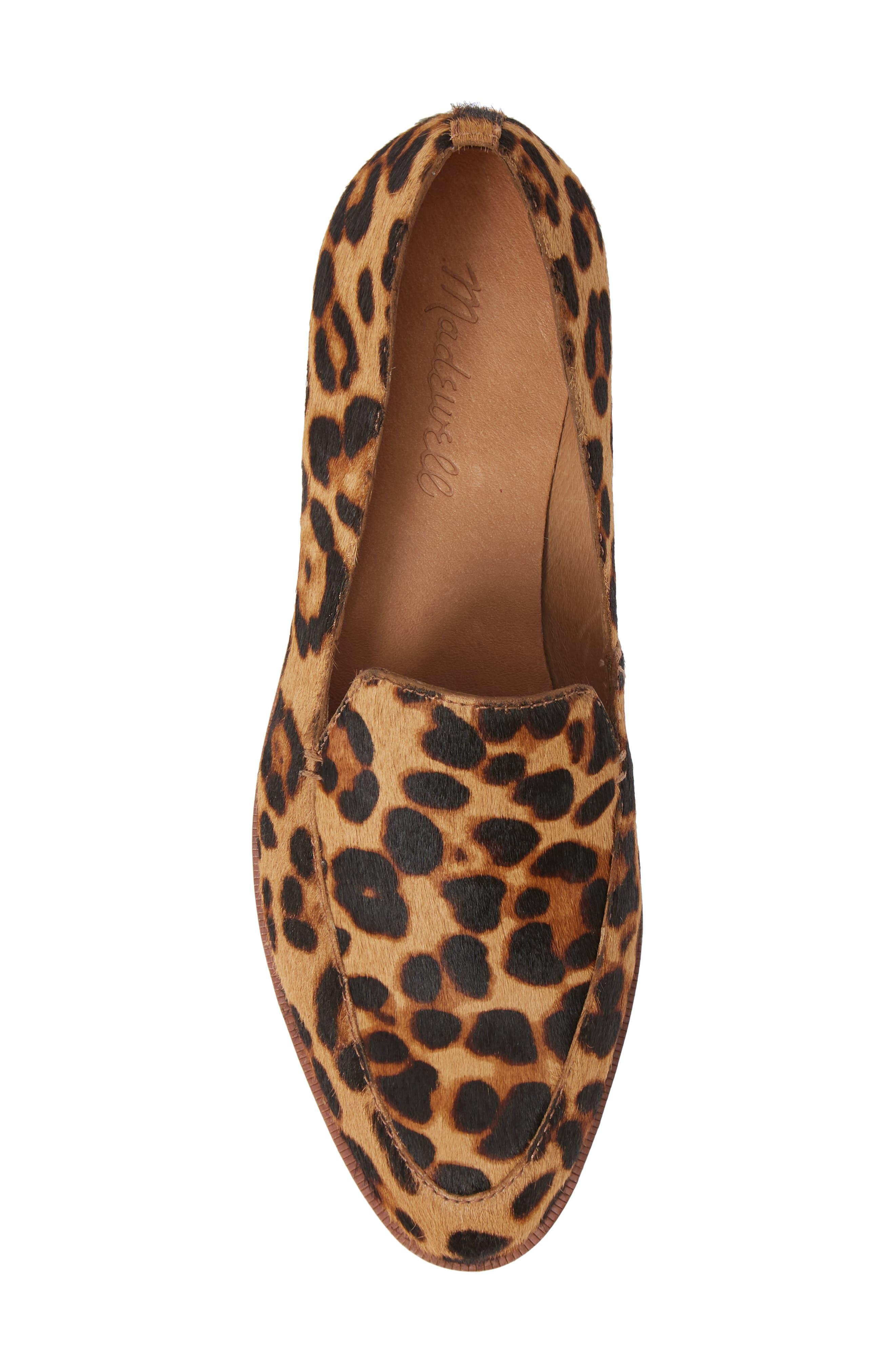 The Frances Genuine Calf Hair Loafer,                             Alternate thumbnail 5, color,                             TRUFFLE MULTI LEOPARD CALFHAIR