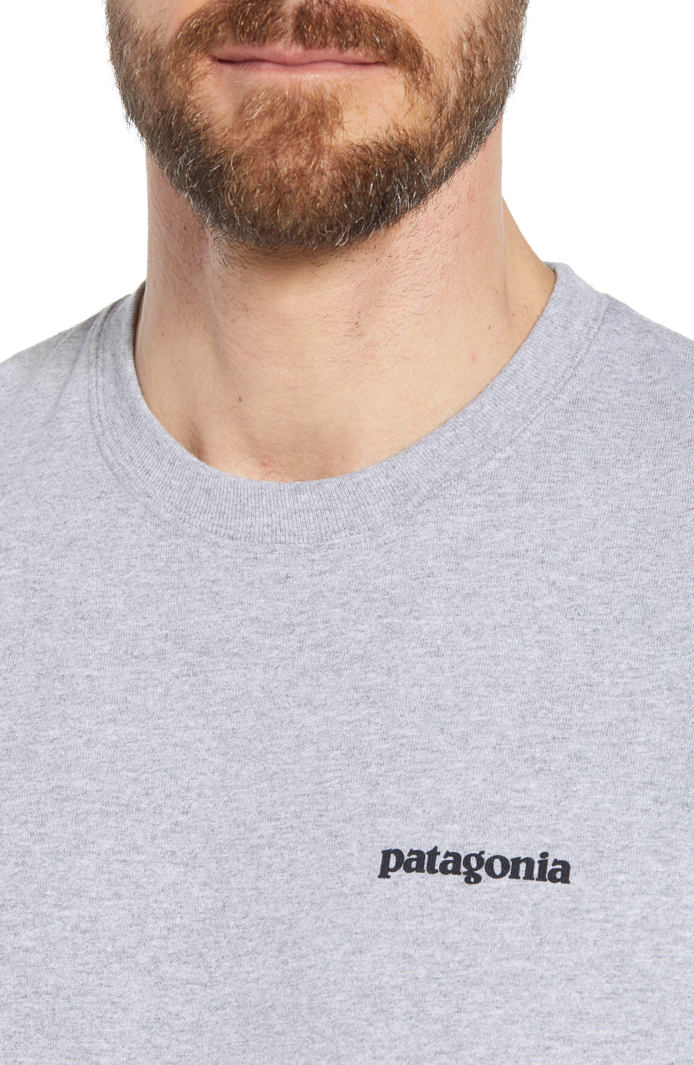 Fitz Roy Trout Crewneck T-Shirt,                             Alternate thumbnail 4, color,                             DRIFTER GREY