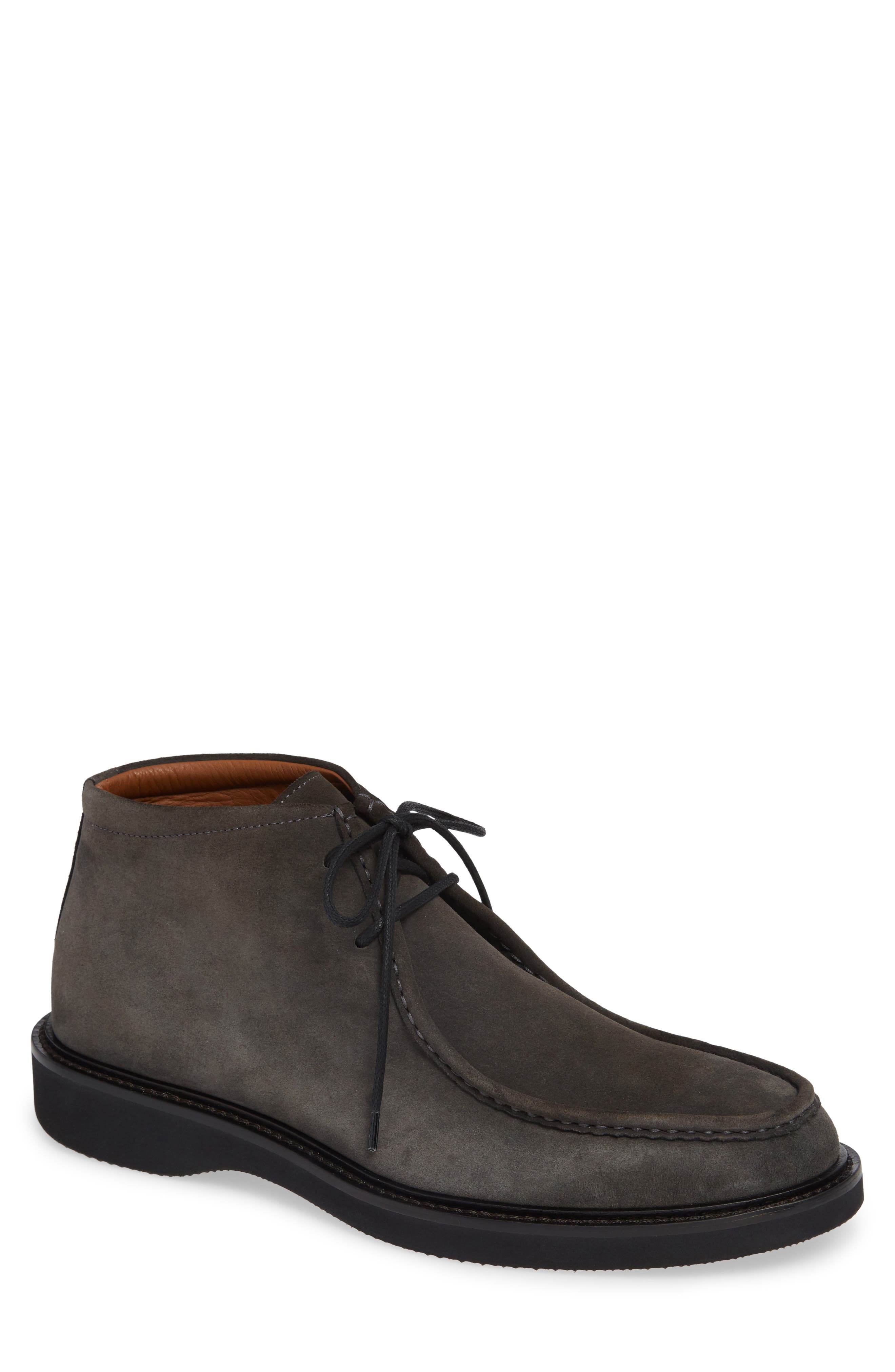 AQUATALIA Men'S Kyle Suede Lace-Up Chukka Boots in Dark Charcoal Suede