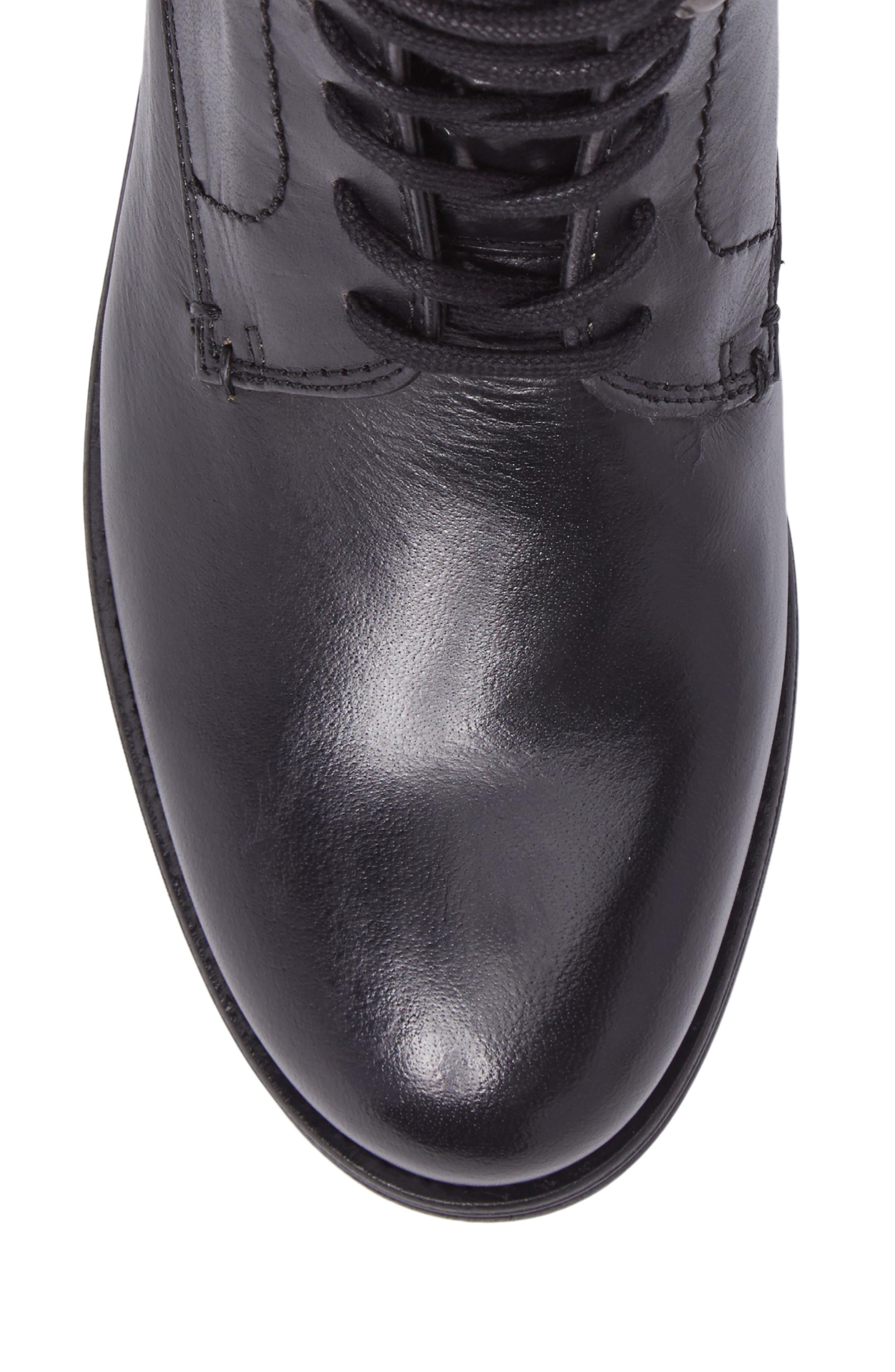 Cordie Plain Toe Boot,                             Alternate thumbnail 5, color,                             001