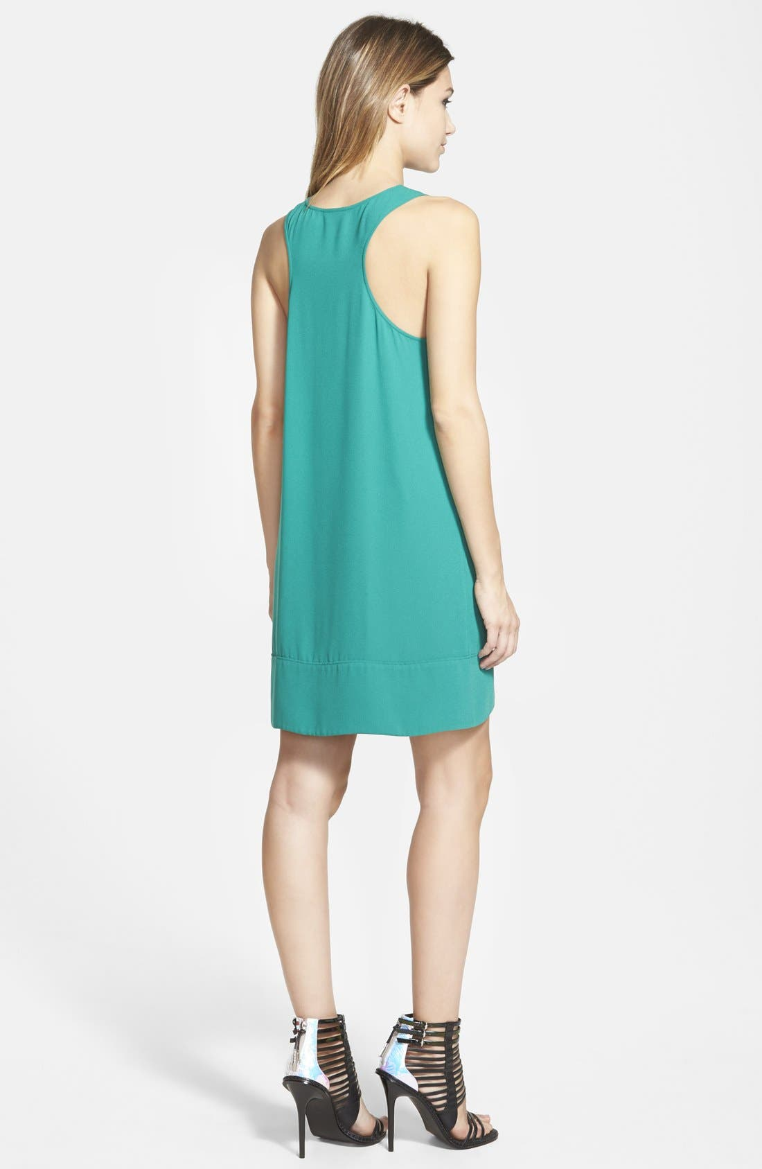 Racerback Shift Dress,                             Alternate thumbnail 218, color,