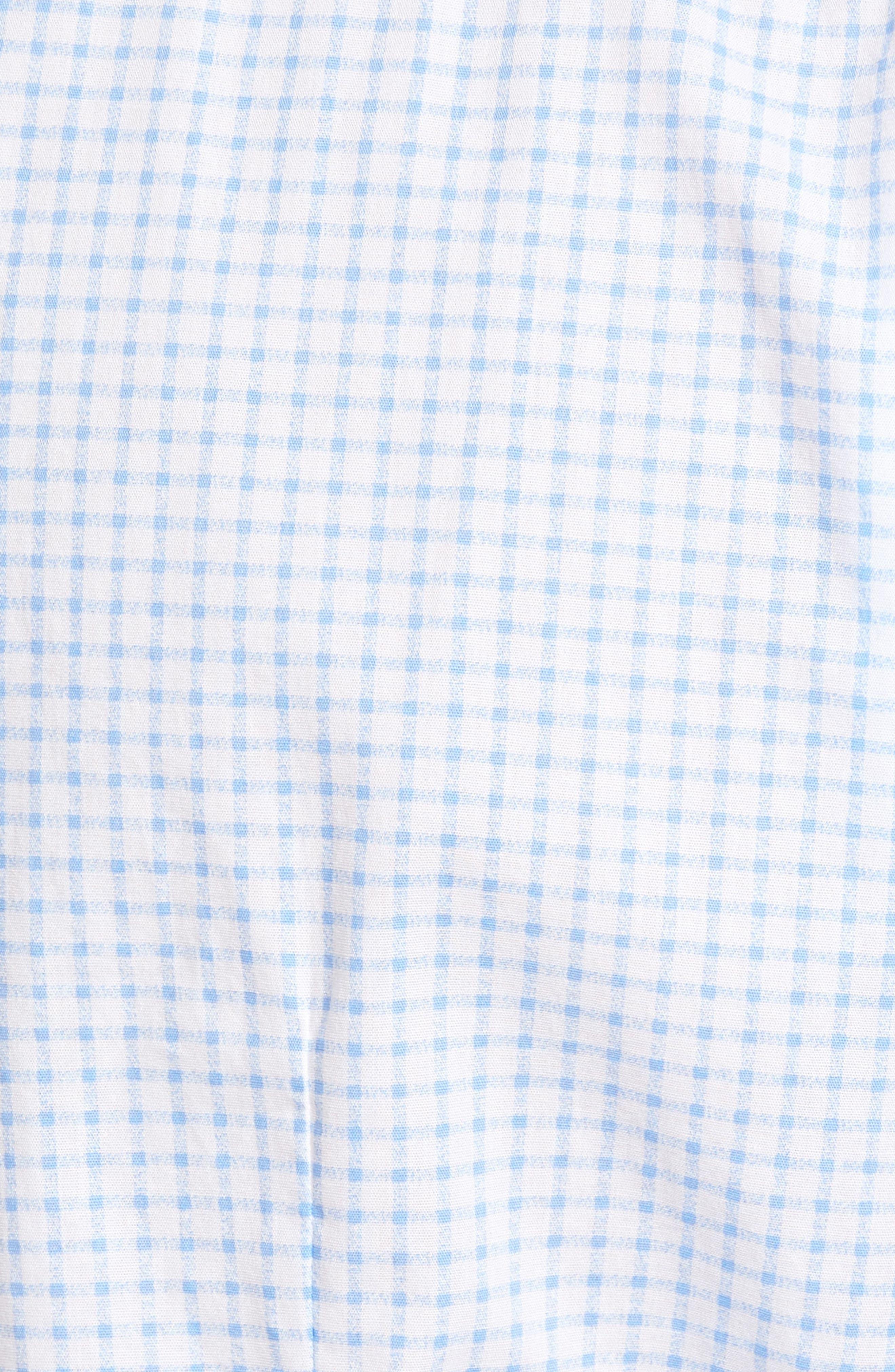 Robbie Trim Fit Check Sport Shirt,                             Alternate thumbnail 5, color,                             100