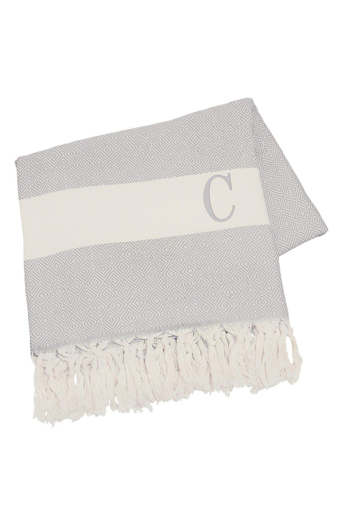 Monogram Turkish Cotton Throw,                             Main thumbnail 5, color,