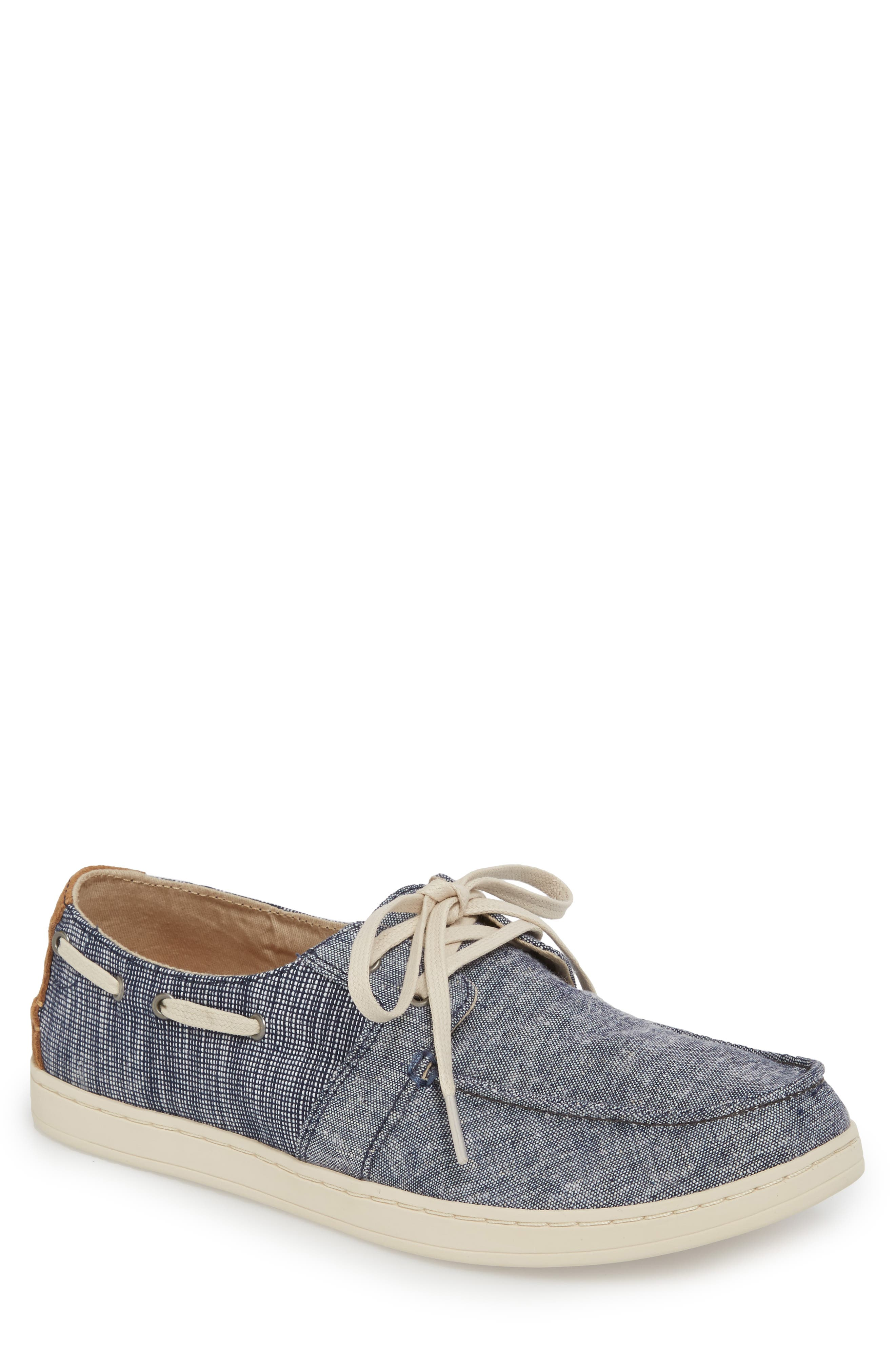 'Culver' Boat Shoe,                         Main,                         color, CANVAS EMBROIDERED WHALE