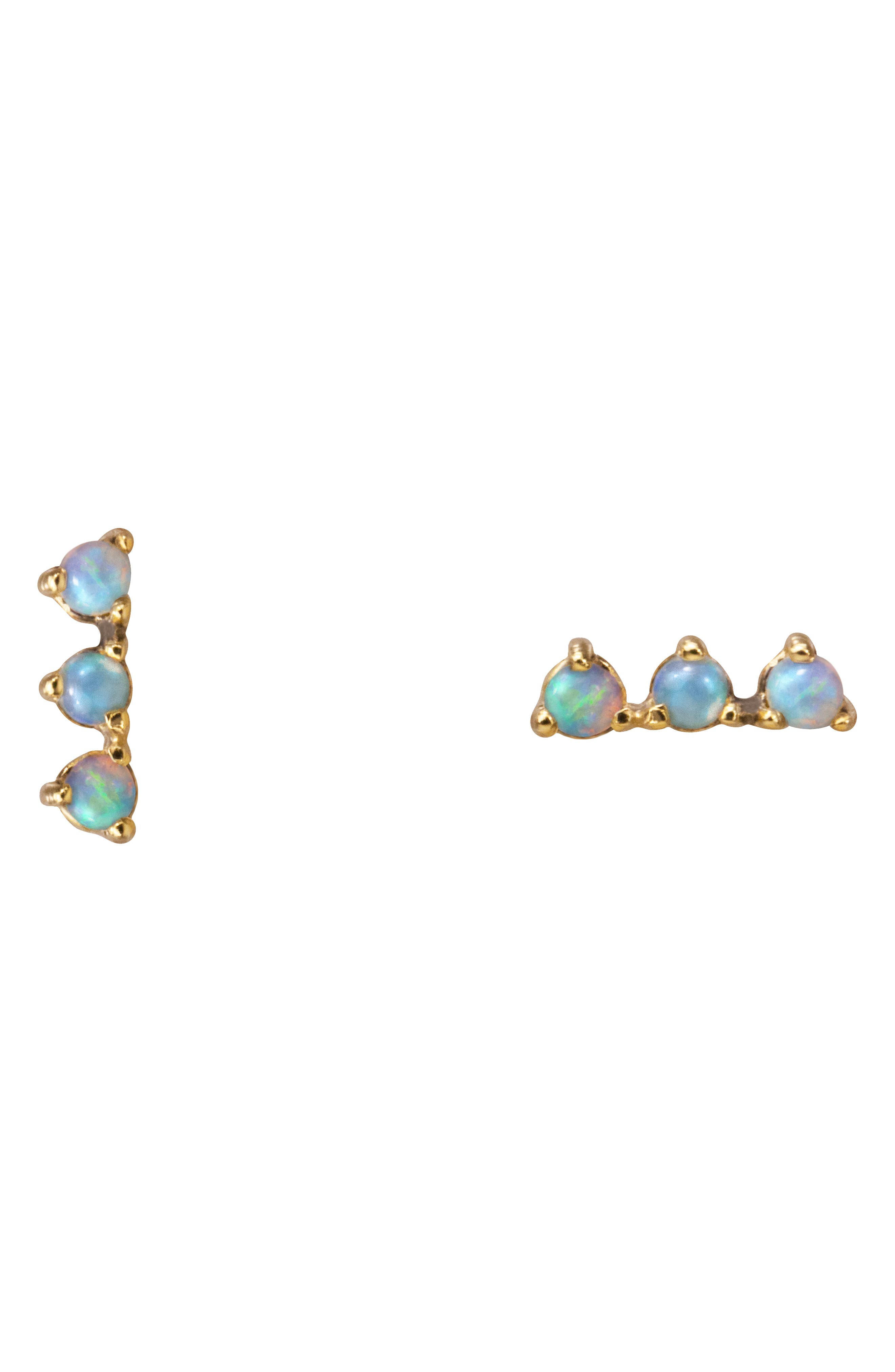 Counting Collection Three-Step Opal & Diamond Statement Earrings,                             Main thumbnail 1, color,                             PINK TOURMALINE SUNSTONE WHITE