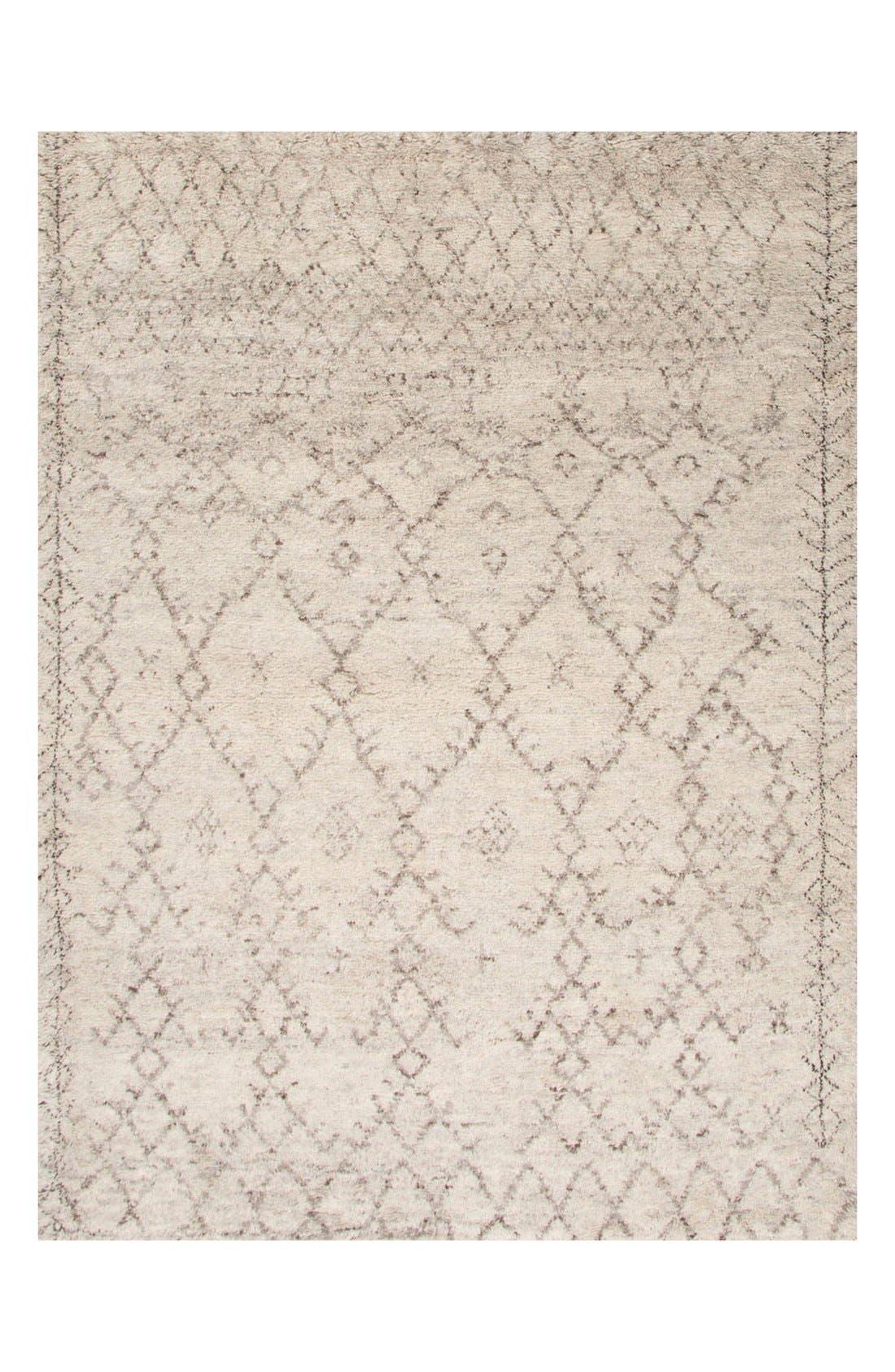 'Zola' Wool Area Rug,                             Main thumbnail 1, color,                             IVORY/ GREY