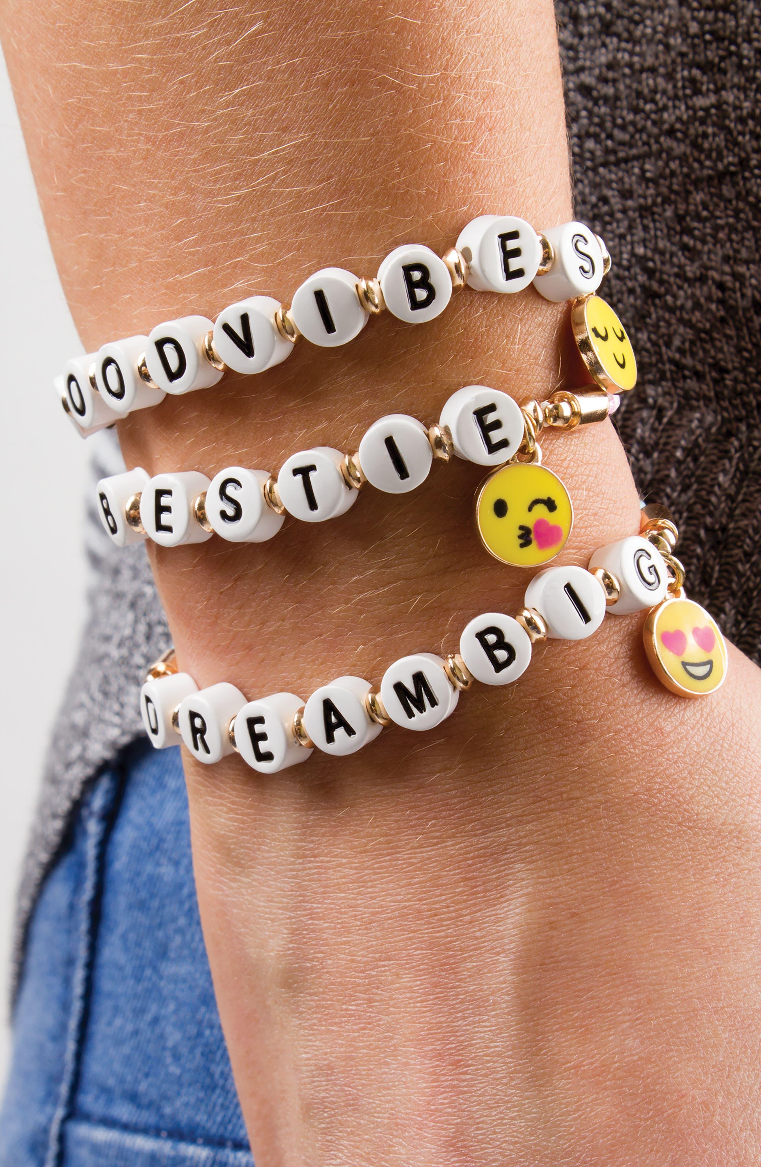 CHARM IT!<sup>®</sup> Good Vibes Emoji Bracelet,                             Alternate thumbnail 3, color,                             500