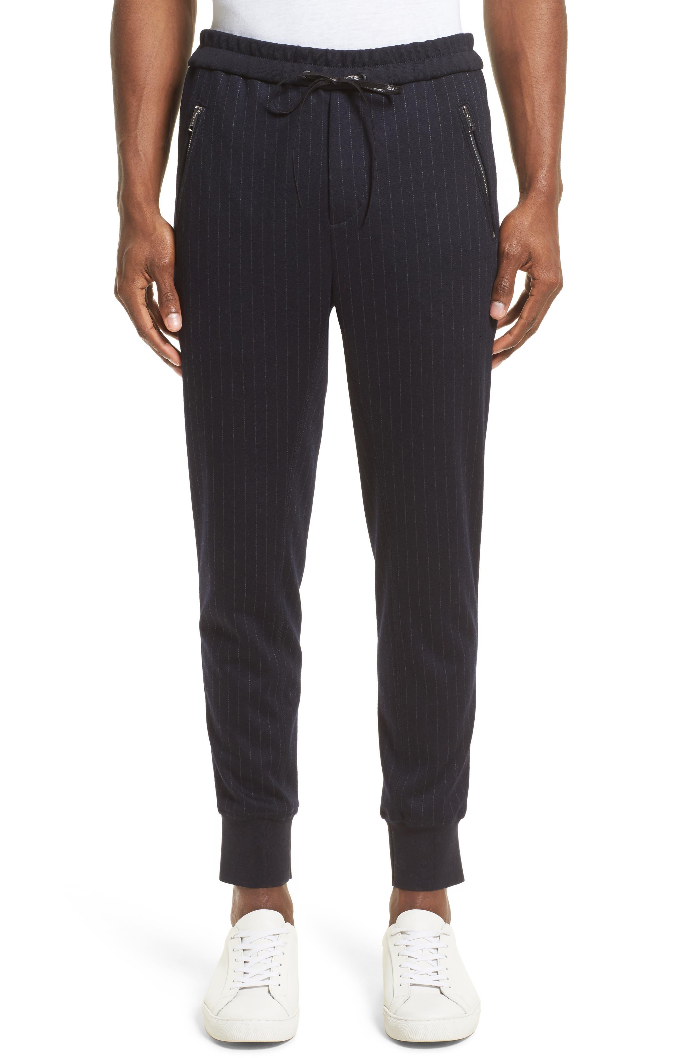 Pinstripe Tapered Jogger Pants,                         Main,                         color, 410