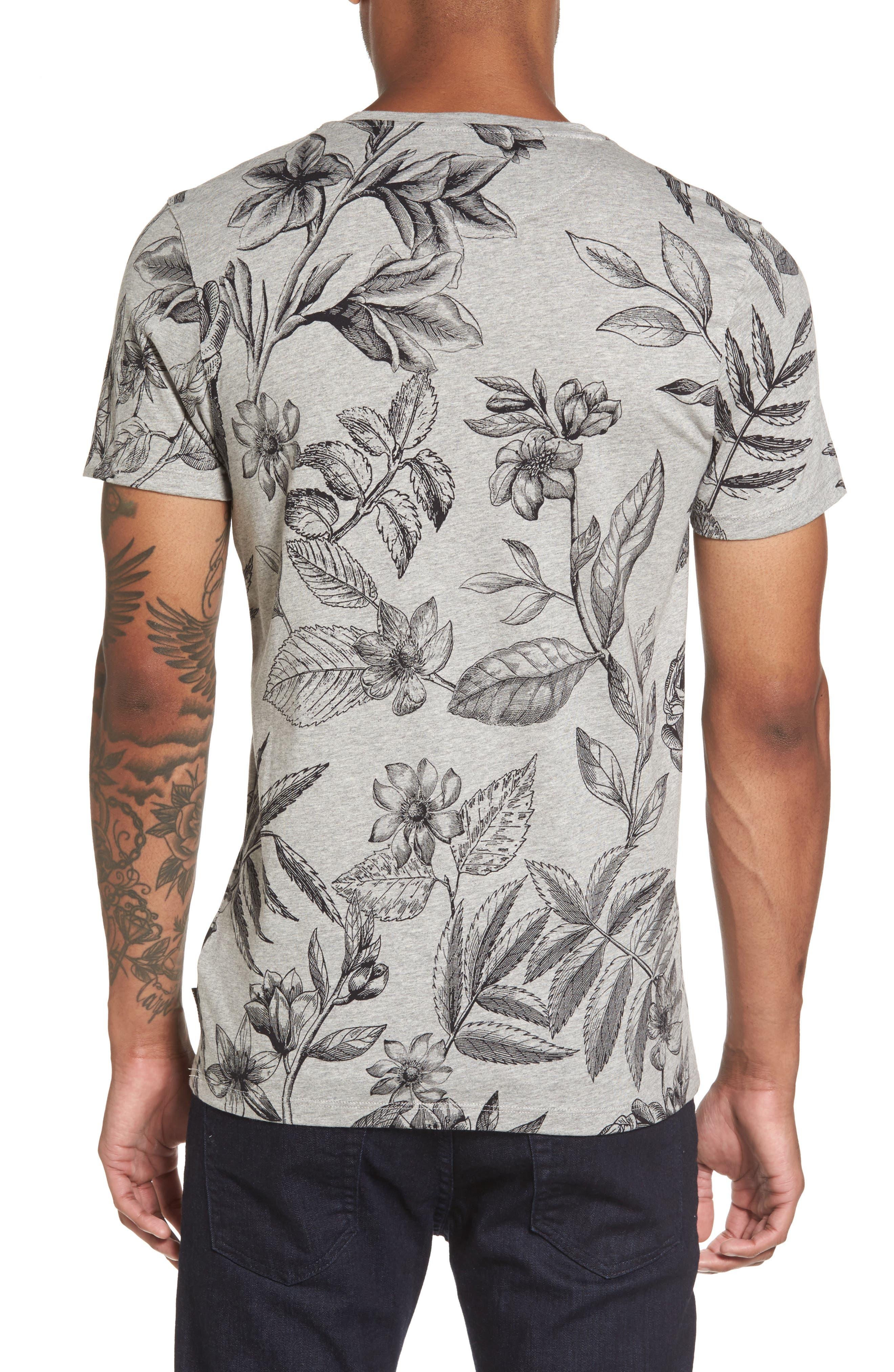 Peggi Floral Print T-Shirt,                             Alternate thumbnail 2, color,