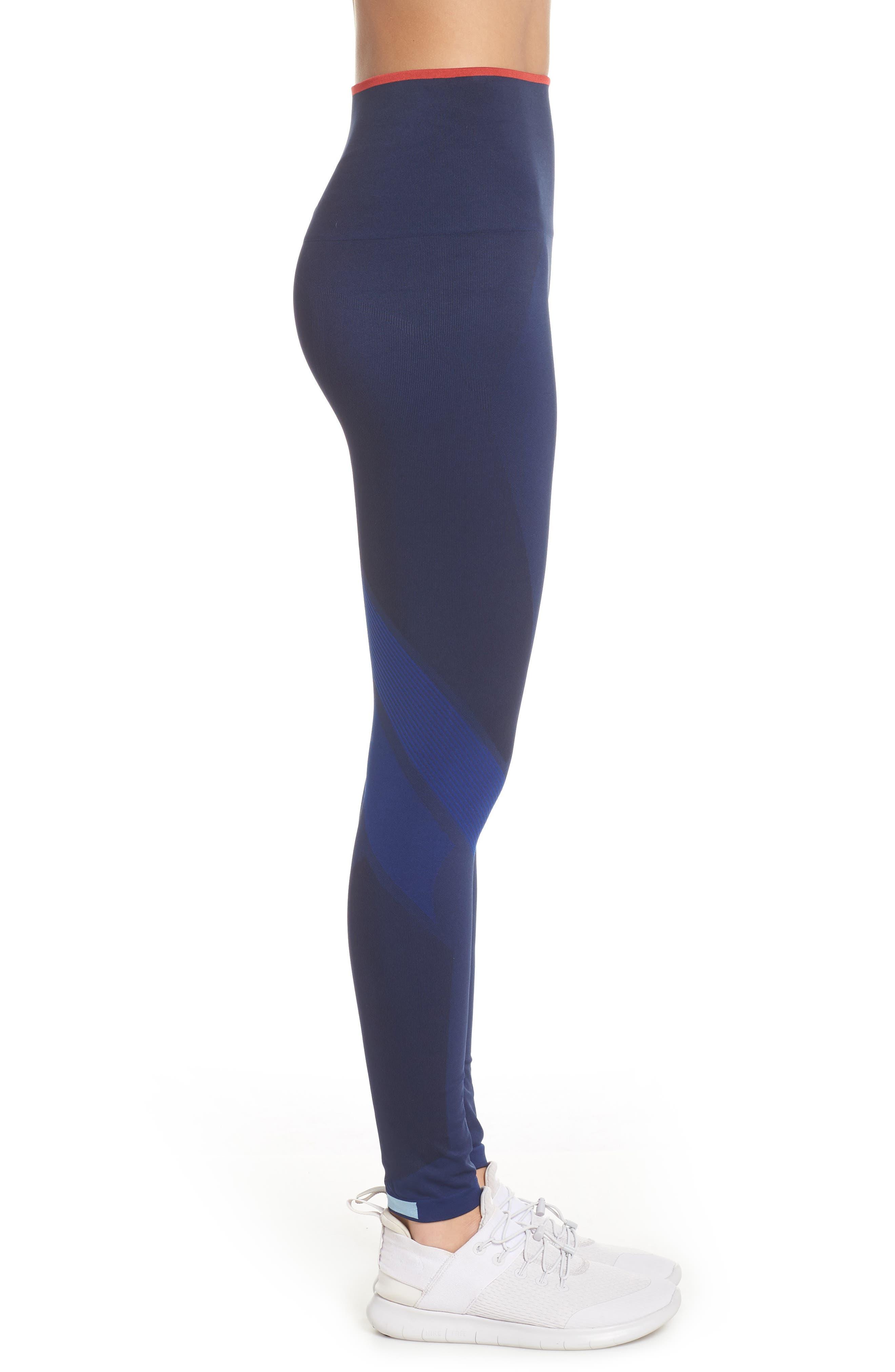 Motion High Waist Seamless Leggings,                             Alternate thumbnail 3, color,                             NAVY / BLUE