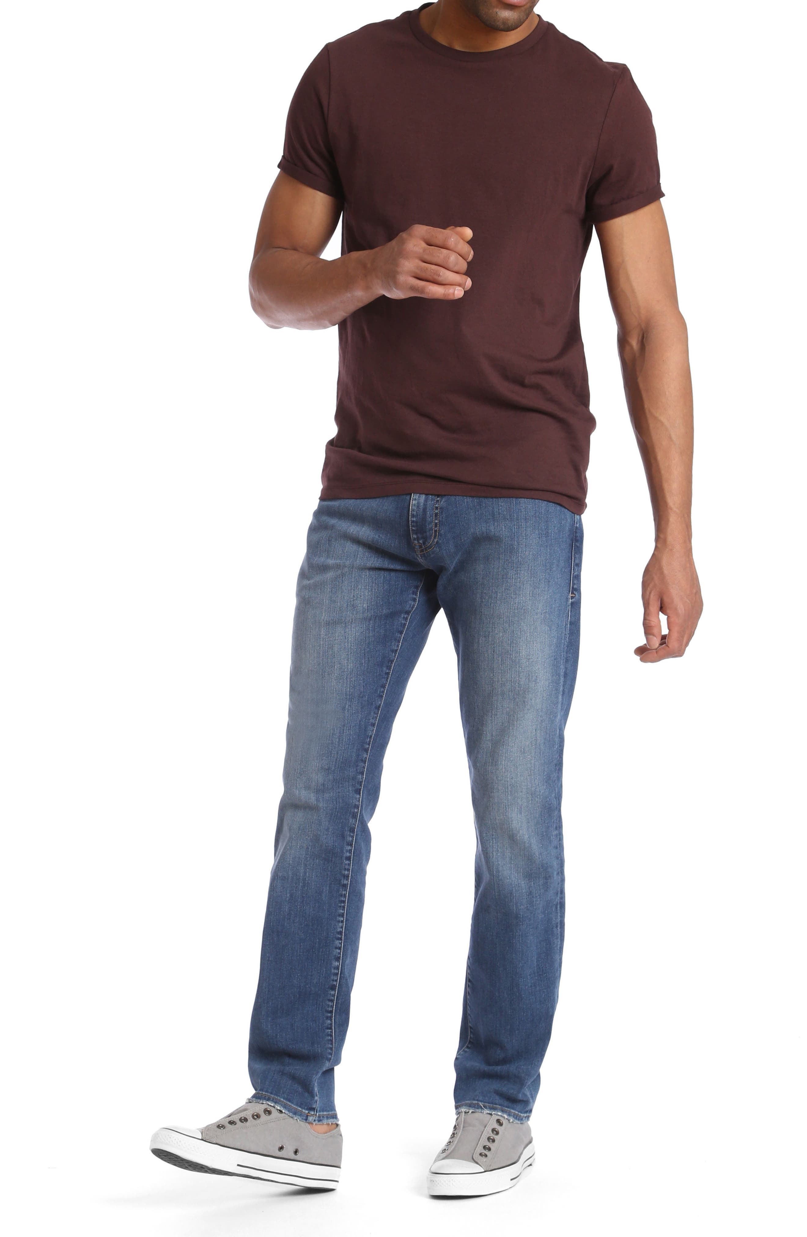 Matt Relaxed Fit Jeans,                             Alternate thumbnail 4, color,                             420
