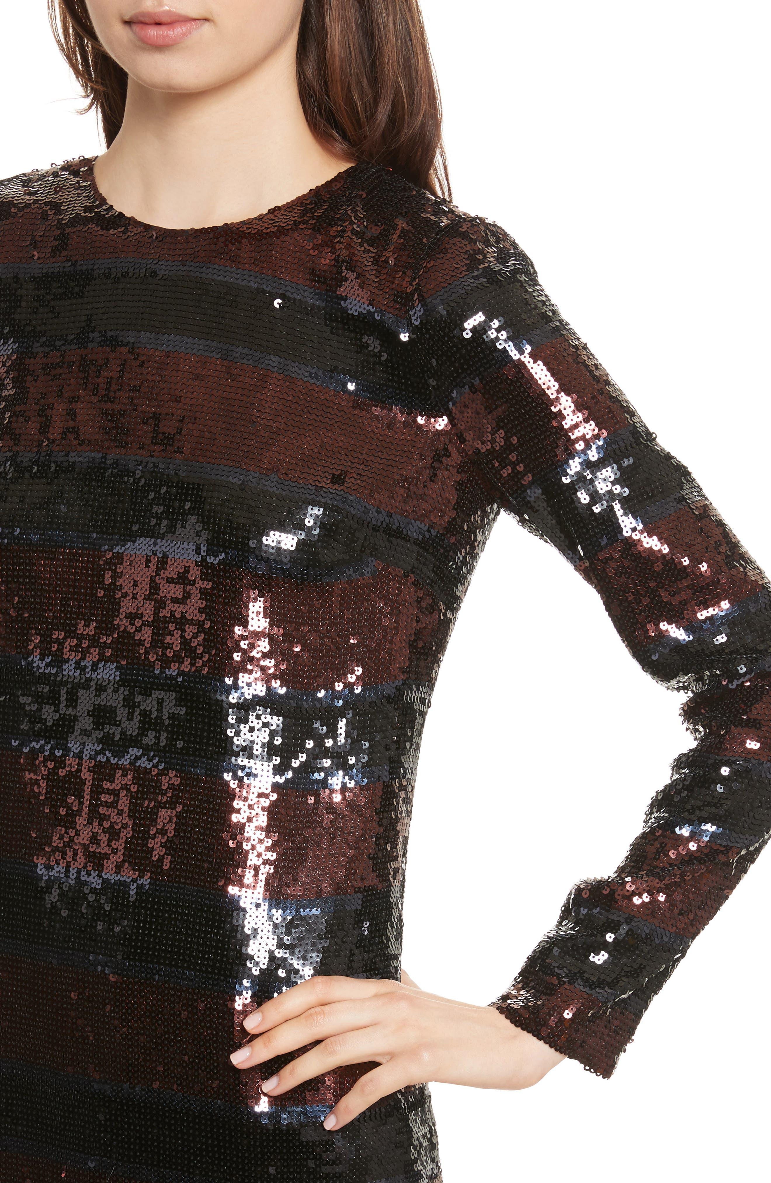 Breakers Sequin Dress,                             Alternate thumbnail 4, color,                             931