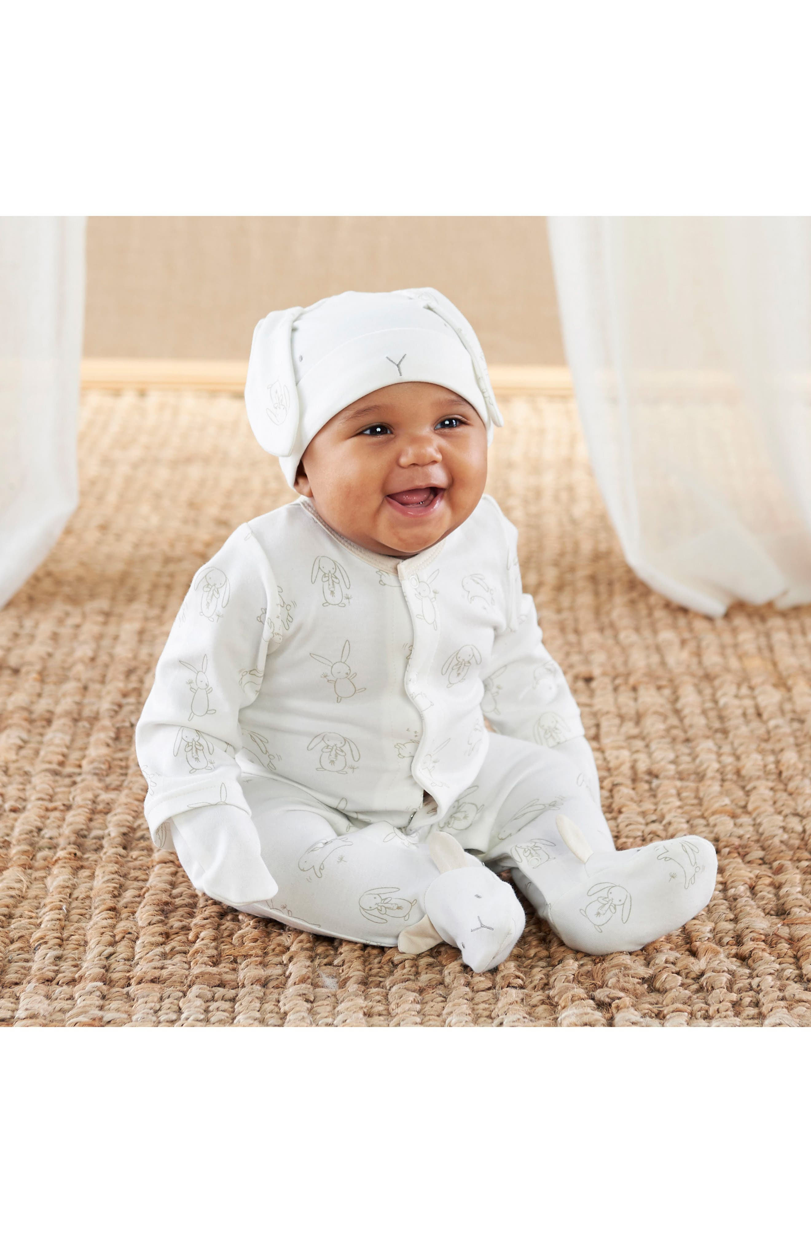 Nature Baby Footie, Hat & Mittens Set,                             Alternate thumbnail 2, color,                             280