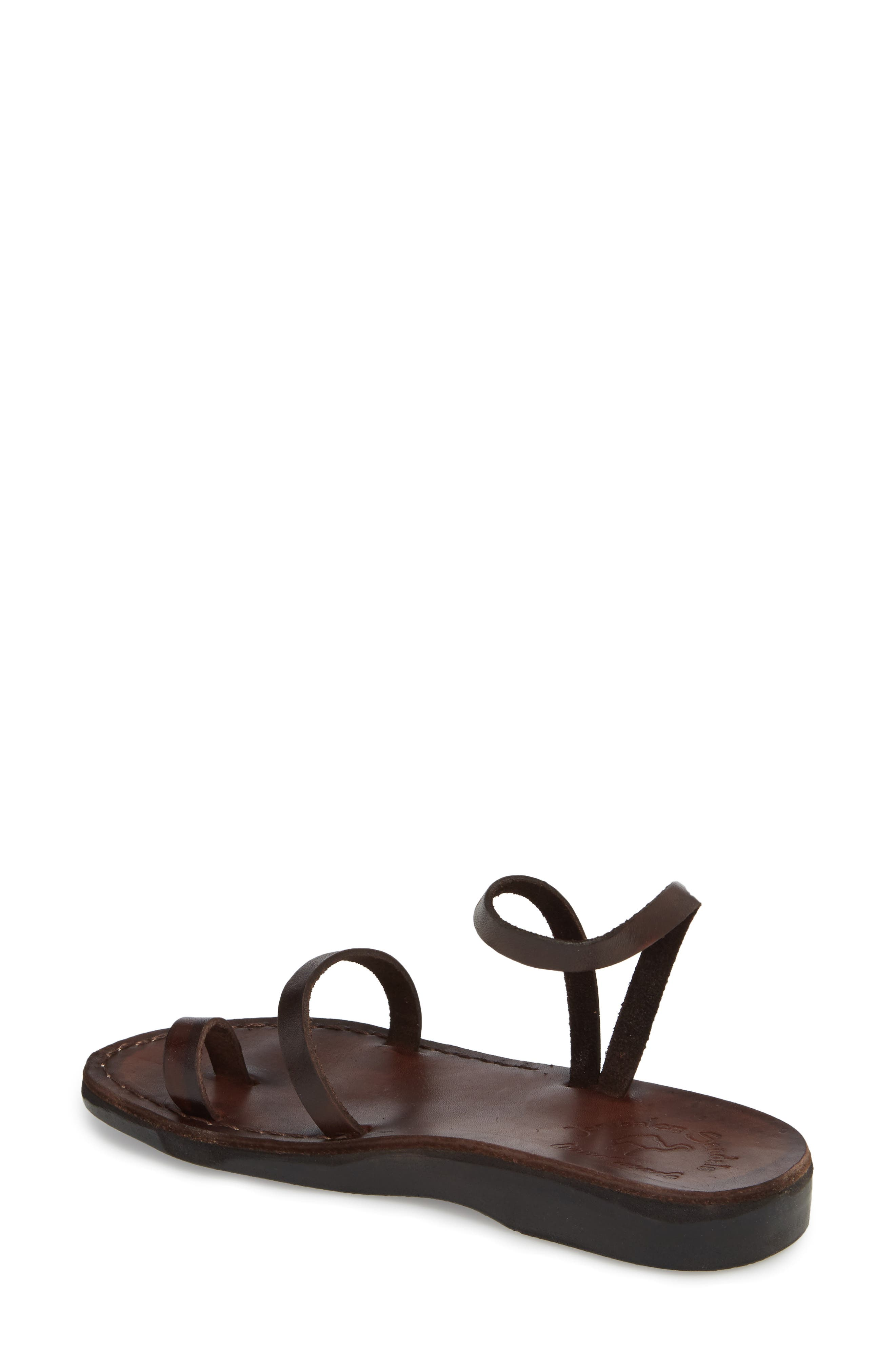 Ella Sandal,                             Alternate thumbnail 2, color,                             BROWN LEATHER