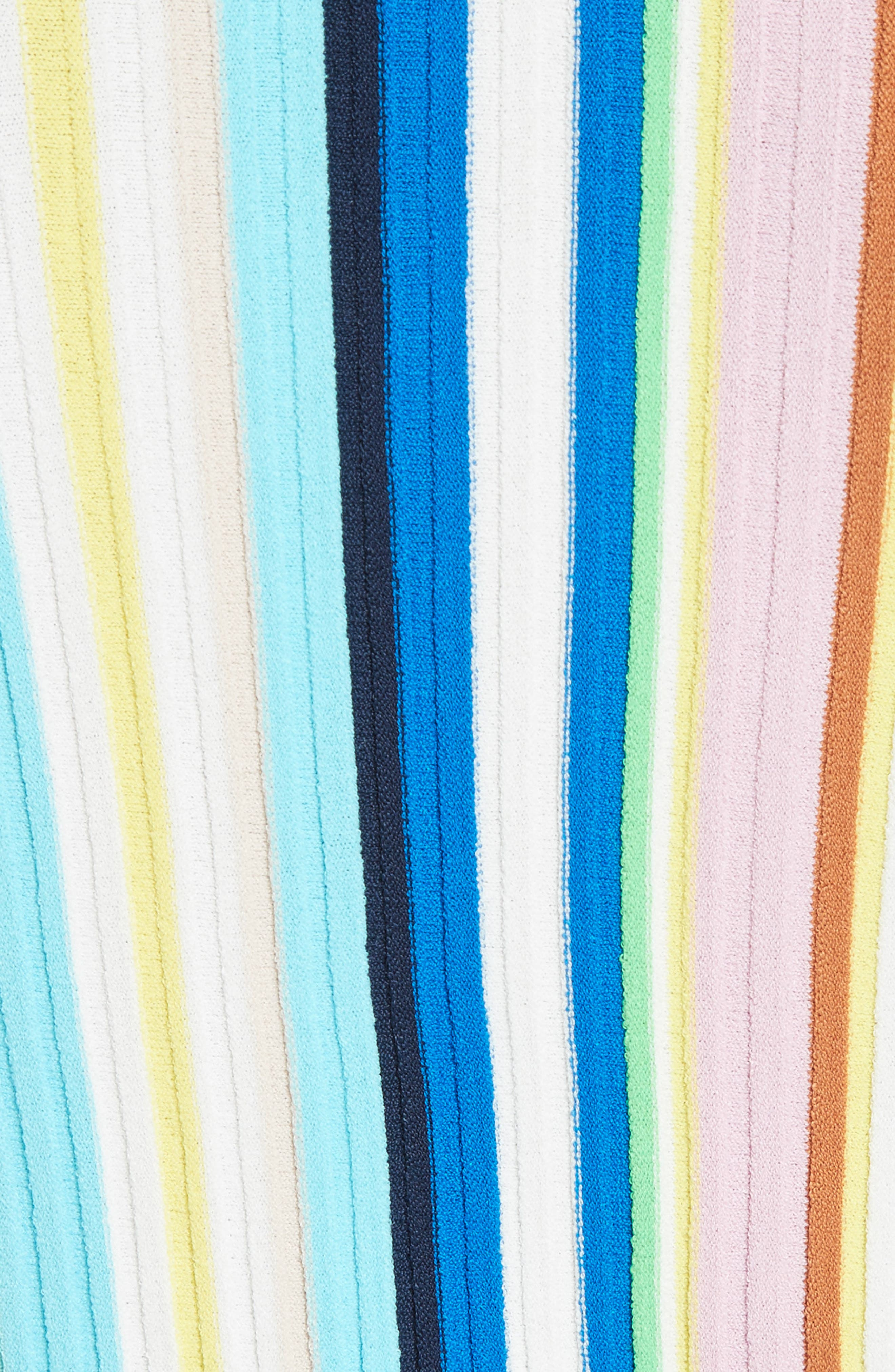 Vertical Stripe Knit Pullover,                             Alternate thumbnail 5, color,                             400