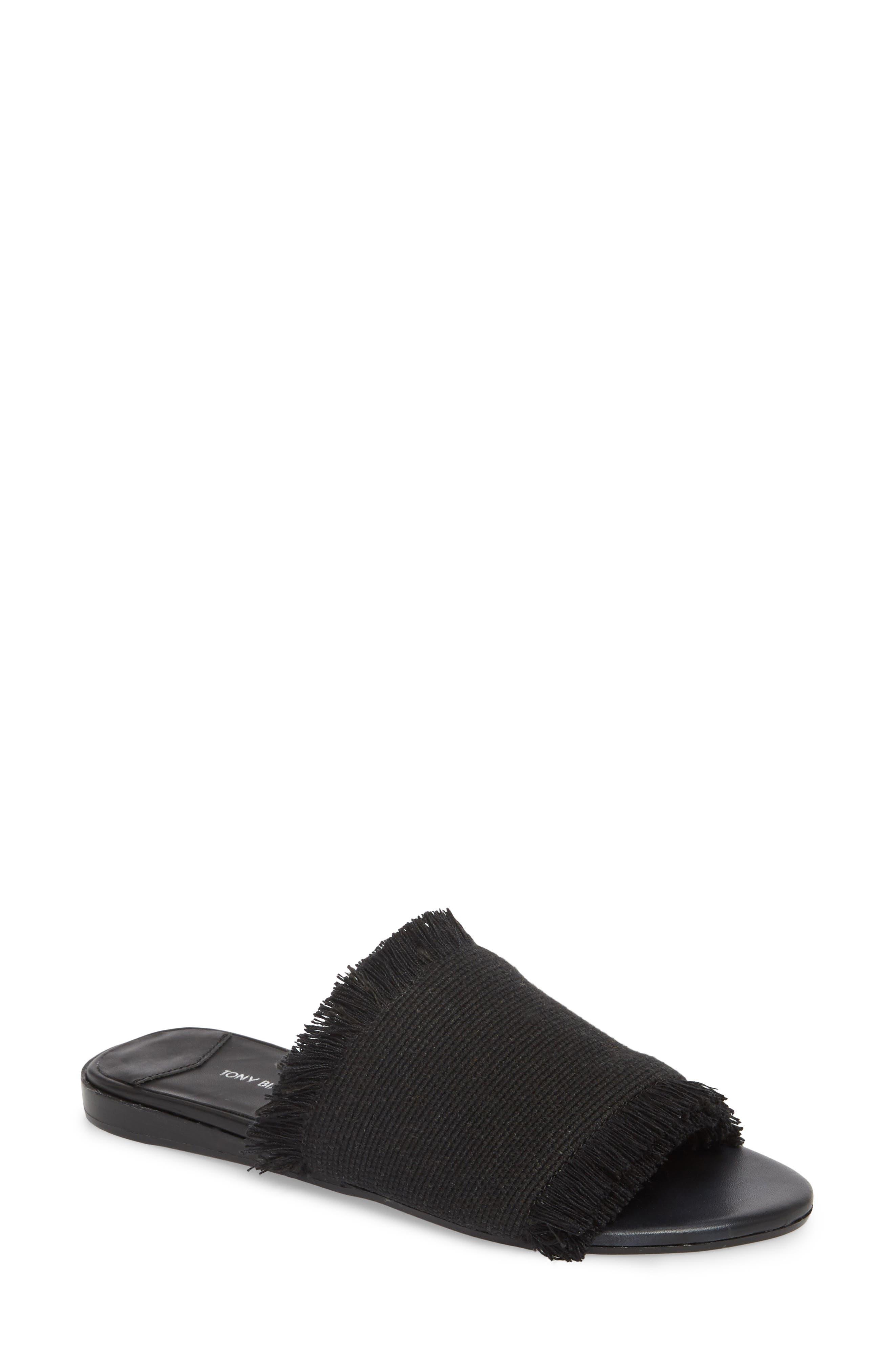 Tony Bianco Jayd Slide Sandal, Black