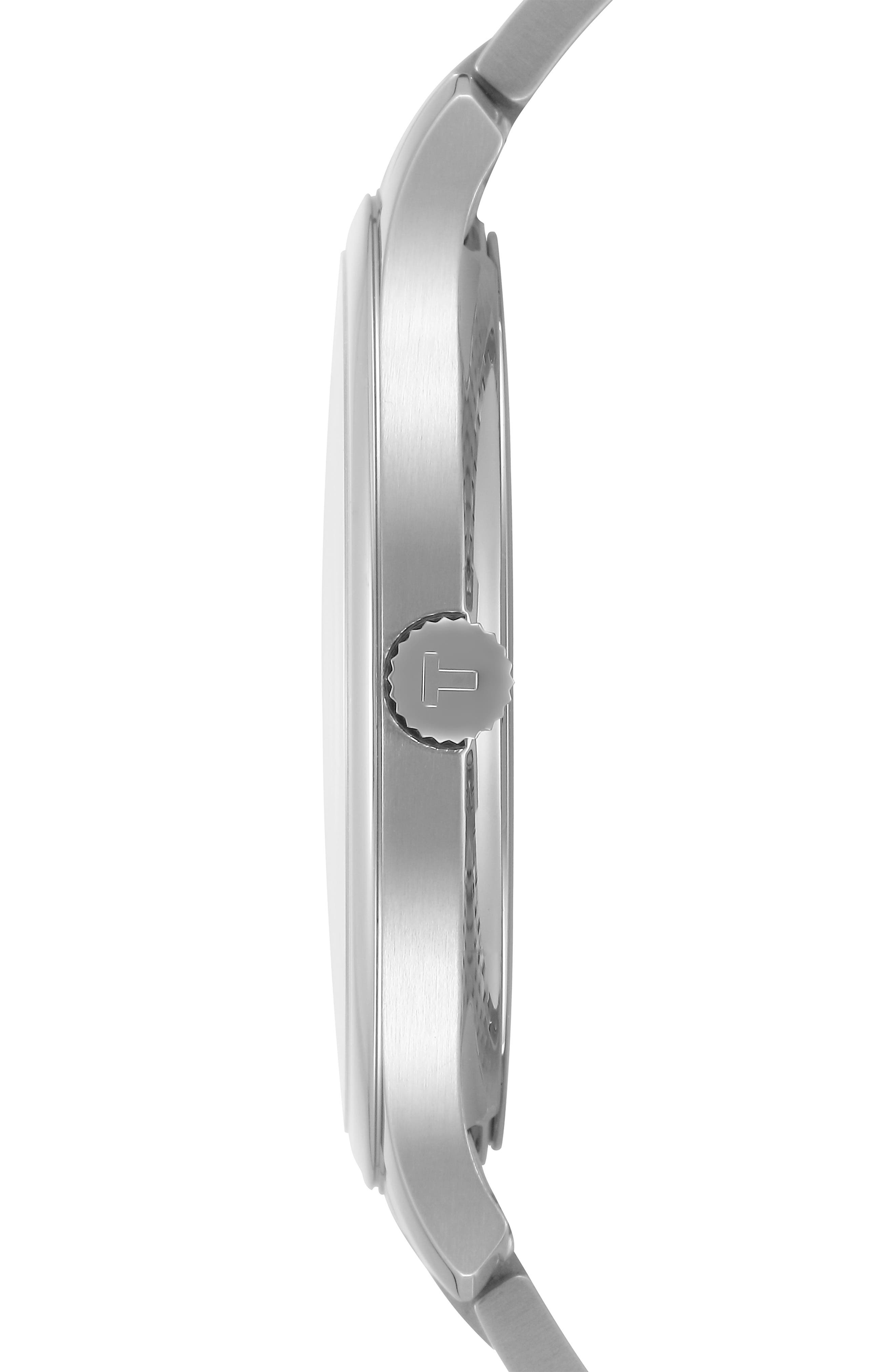 Tradition Bracelet Watch, 42mm,                             Alternate thumbnail 4, color,                             SILVER