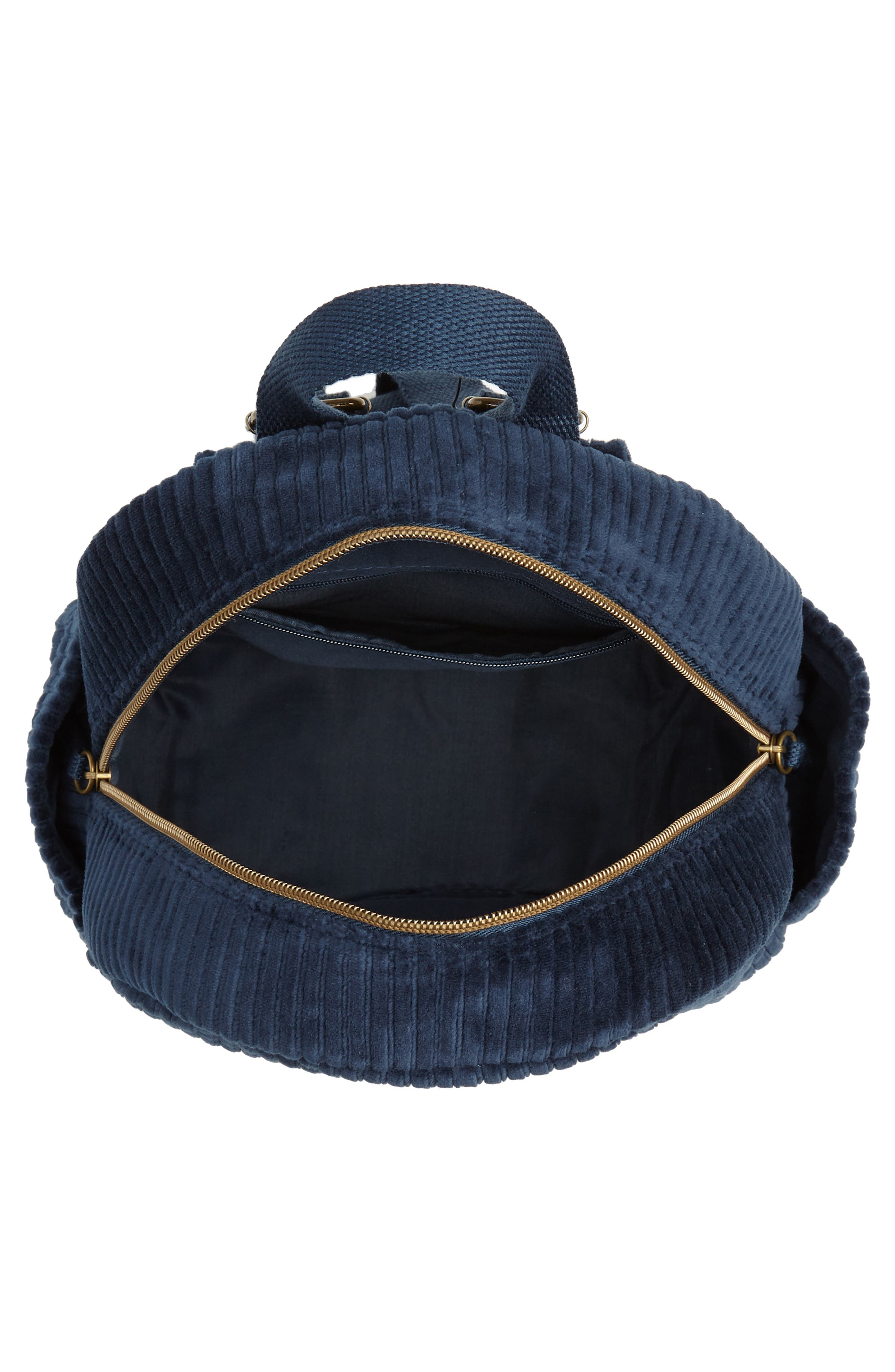 Corduroy Mini Backpack,                             Alternate thumbnail 4, color,                             440