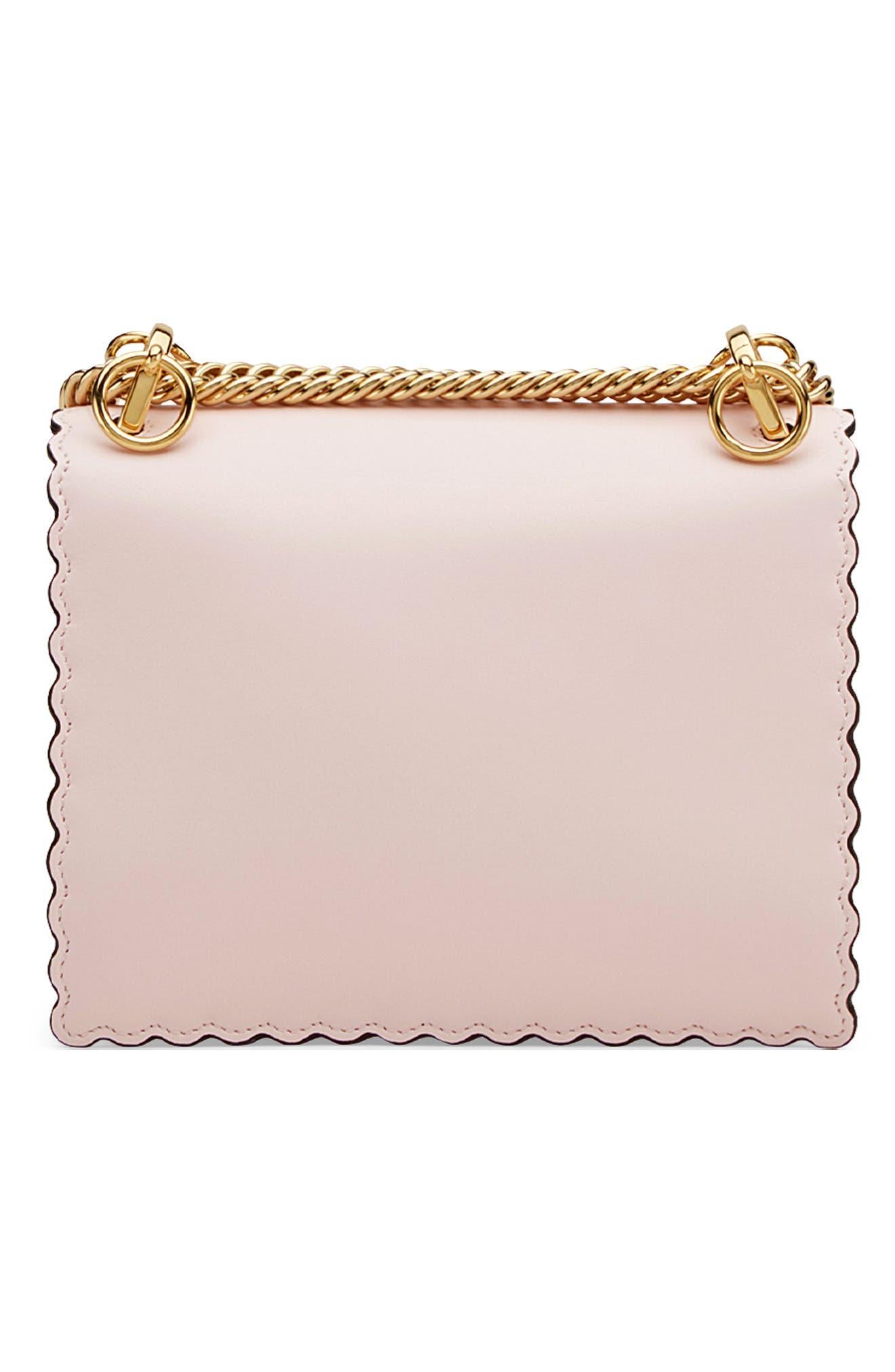 Mini Kan I Scalloped Leather Shoulder Bag,                             Alternate thumbnail 2, color,                             CONFETTO/ ORO SOFT