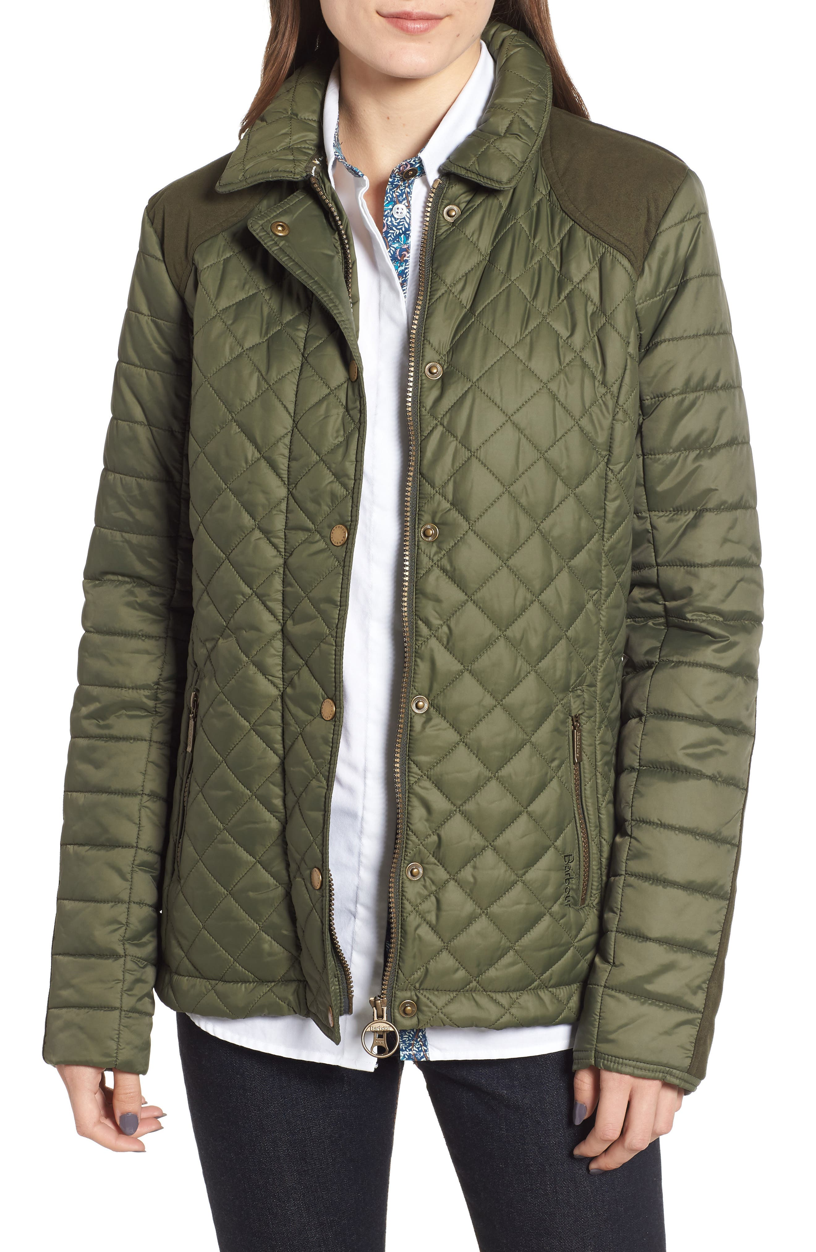 Barbour Quail Quilted Jacket, US / 16 UK - Green