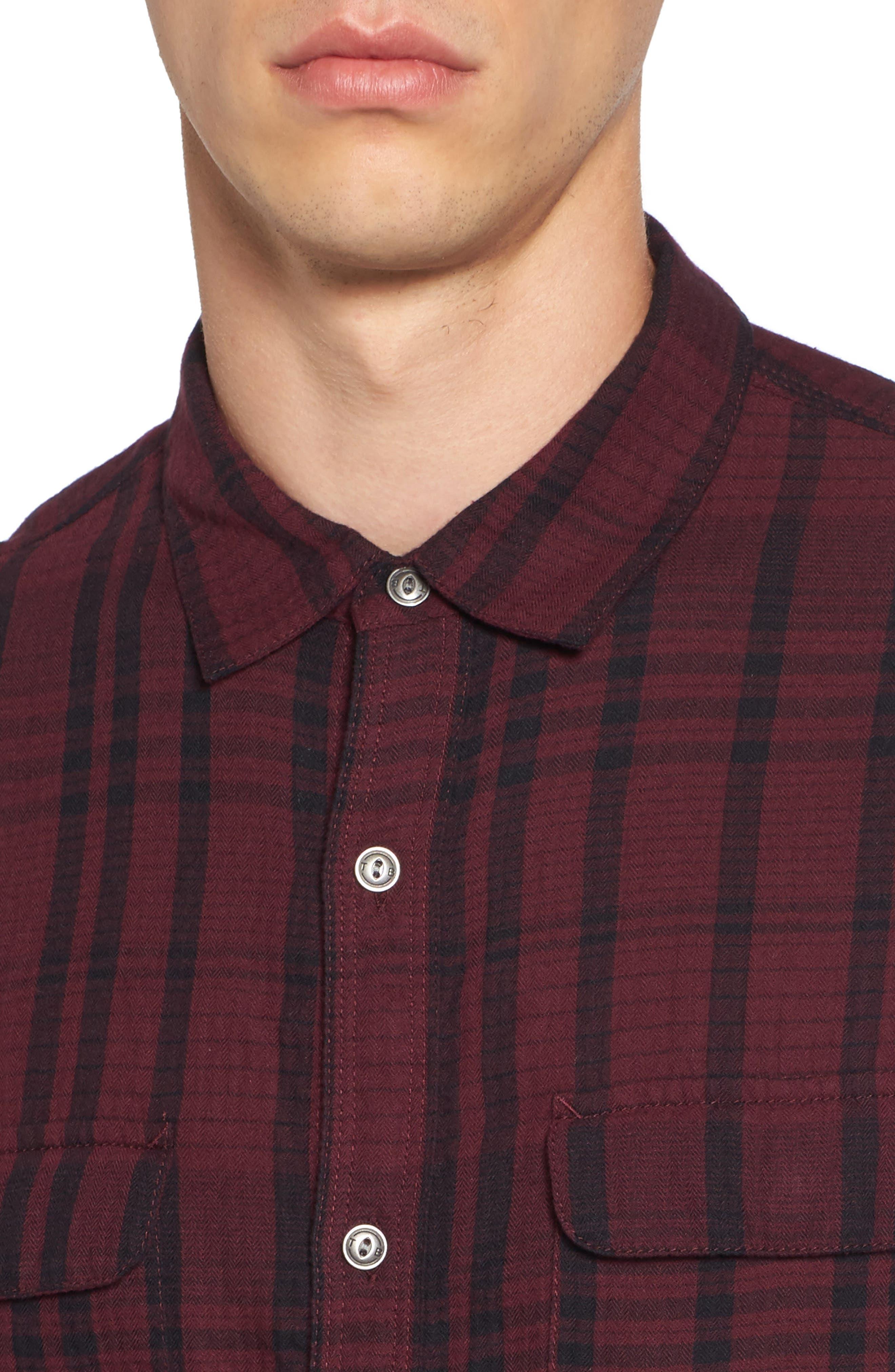Hooper Plaid Sport Shirt,                             Alternate thumbnail 8, color,