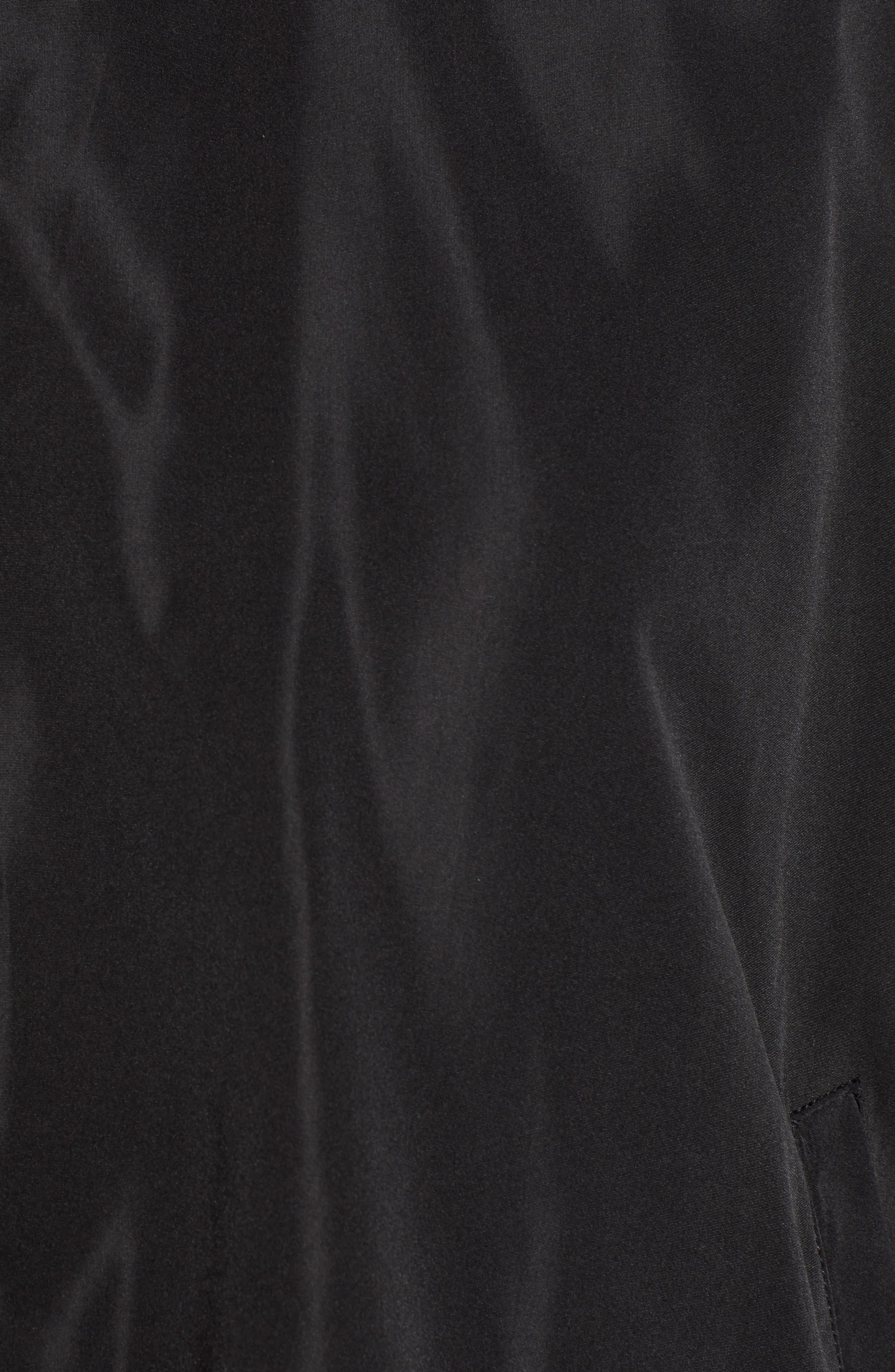 Star Drawstring Track Jacket,                             Alternate thumbnail 7, color,                             BLACK