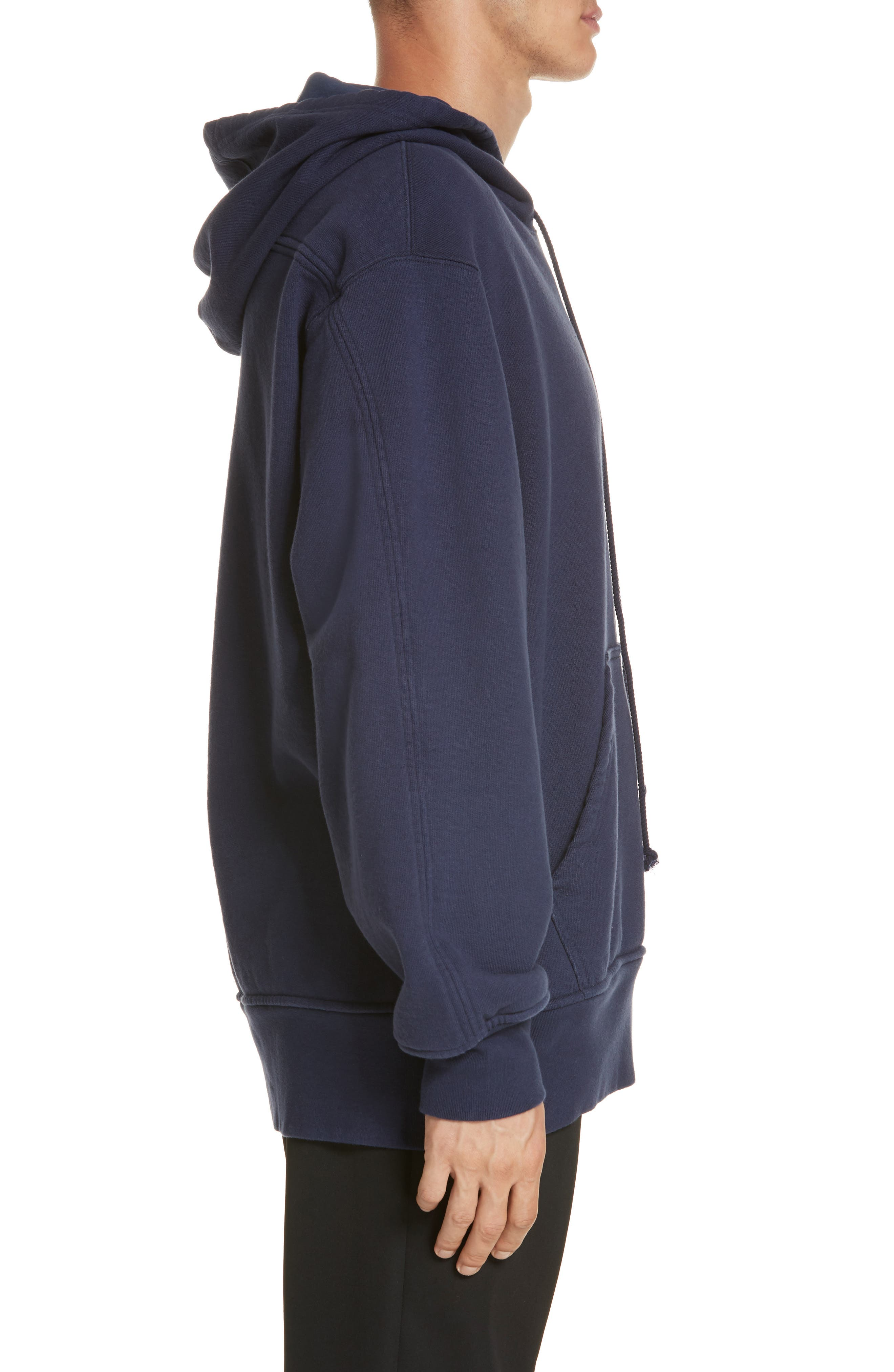 Oversize Hoodie,                             Alternate thumbnail 3, color,                             MARINE