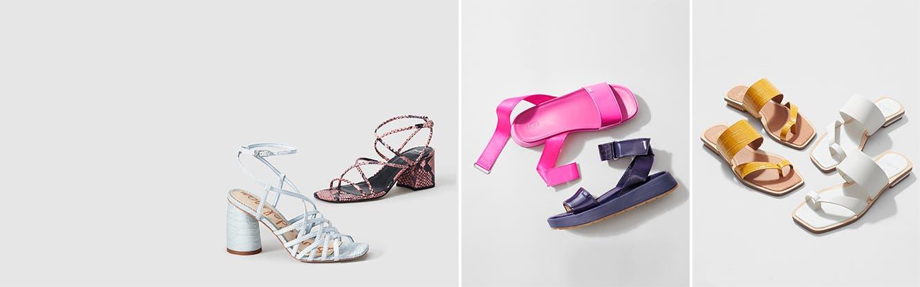 Wonder Nation Girls Slip On Slide Sandals Size 4 Silver