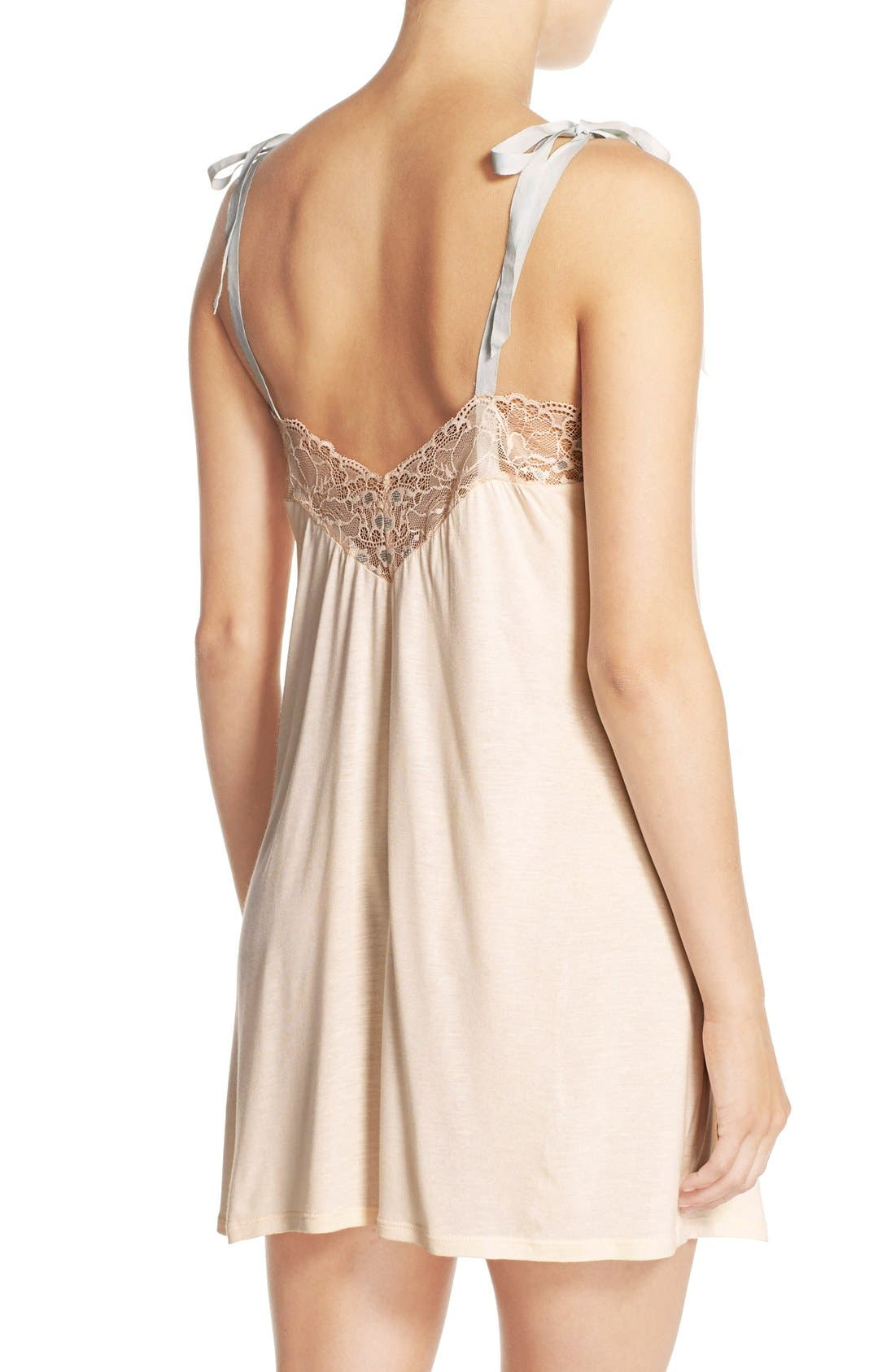 'Piper' Lace Trim Jersey Babydoll,                             Alternate thumbnail 2, color,                             681