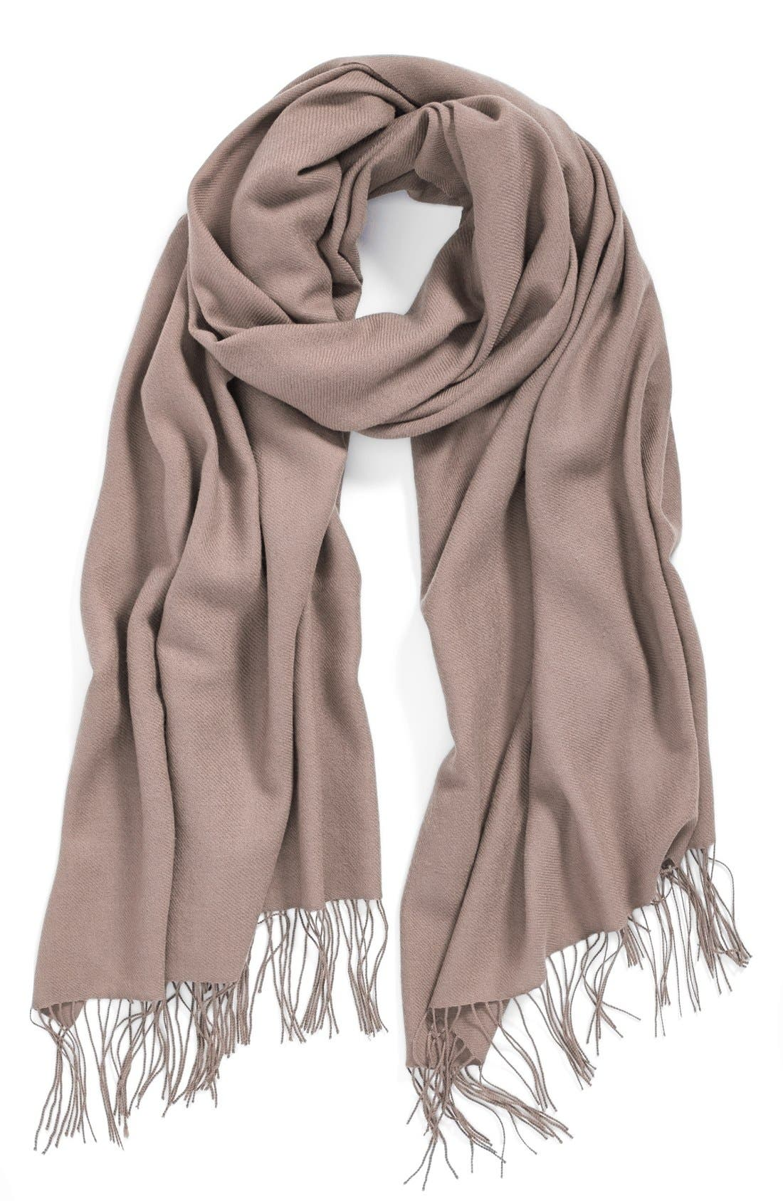 Tissue Weight Wool & Cashmere Wrap,                             Main thumbnail 23, color,