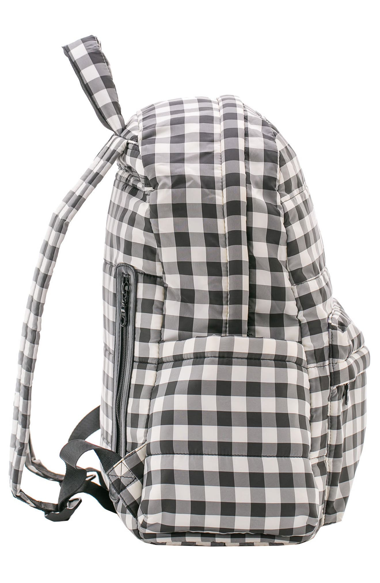 Print Water Repellent Diaper Backpack,                             Alternate thumbnail 4, color,                             002