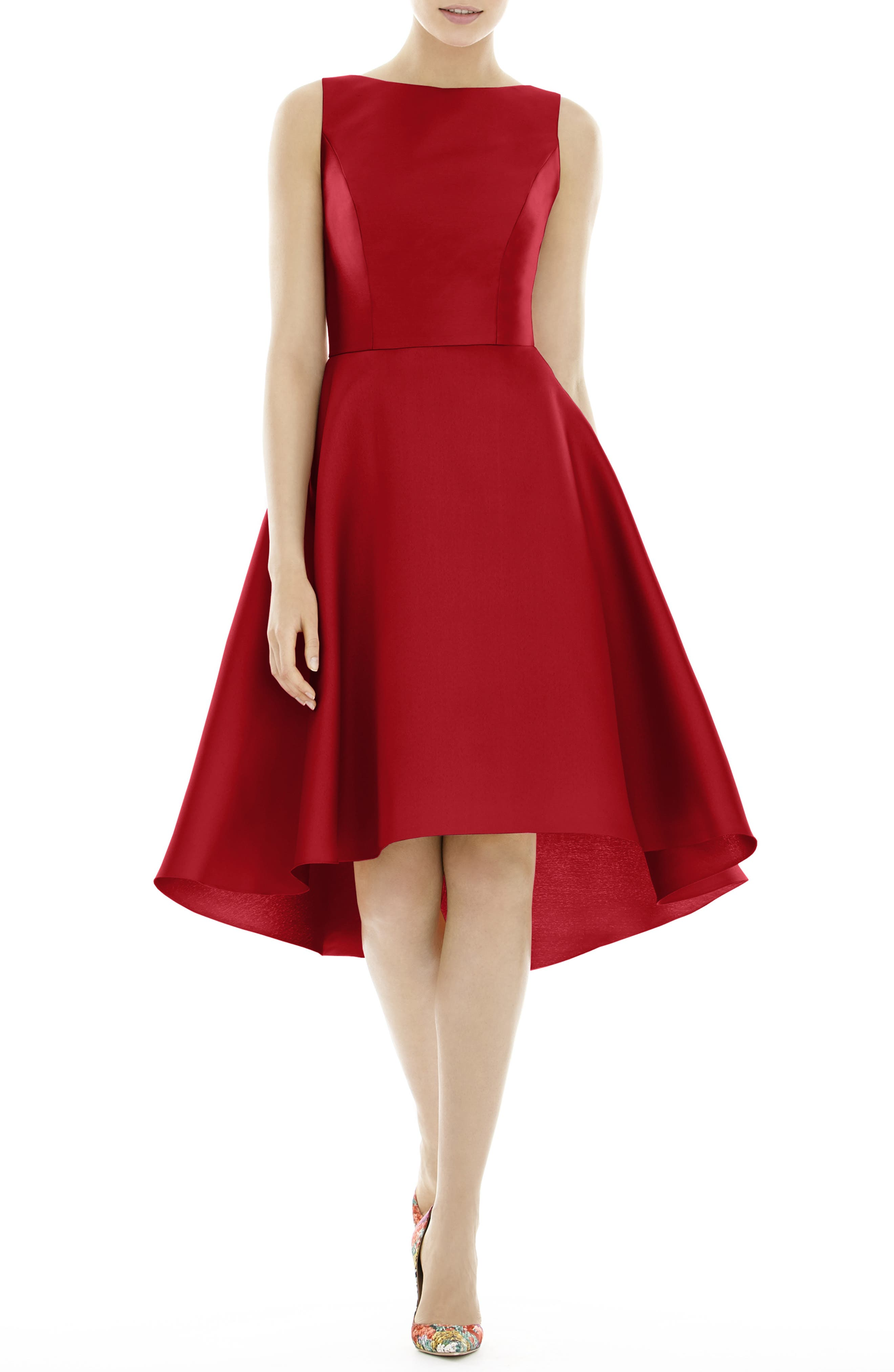 Alfred Sung High/low Cocktail Dress, Red