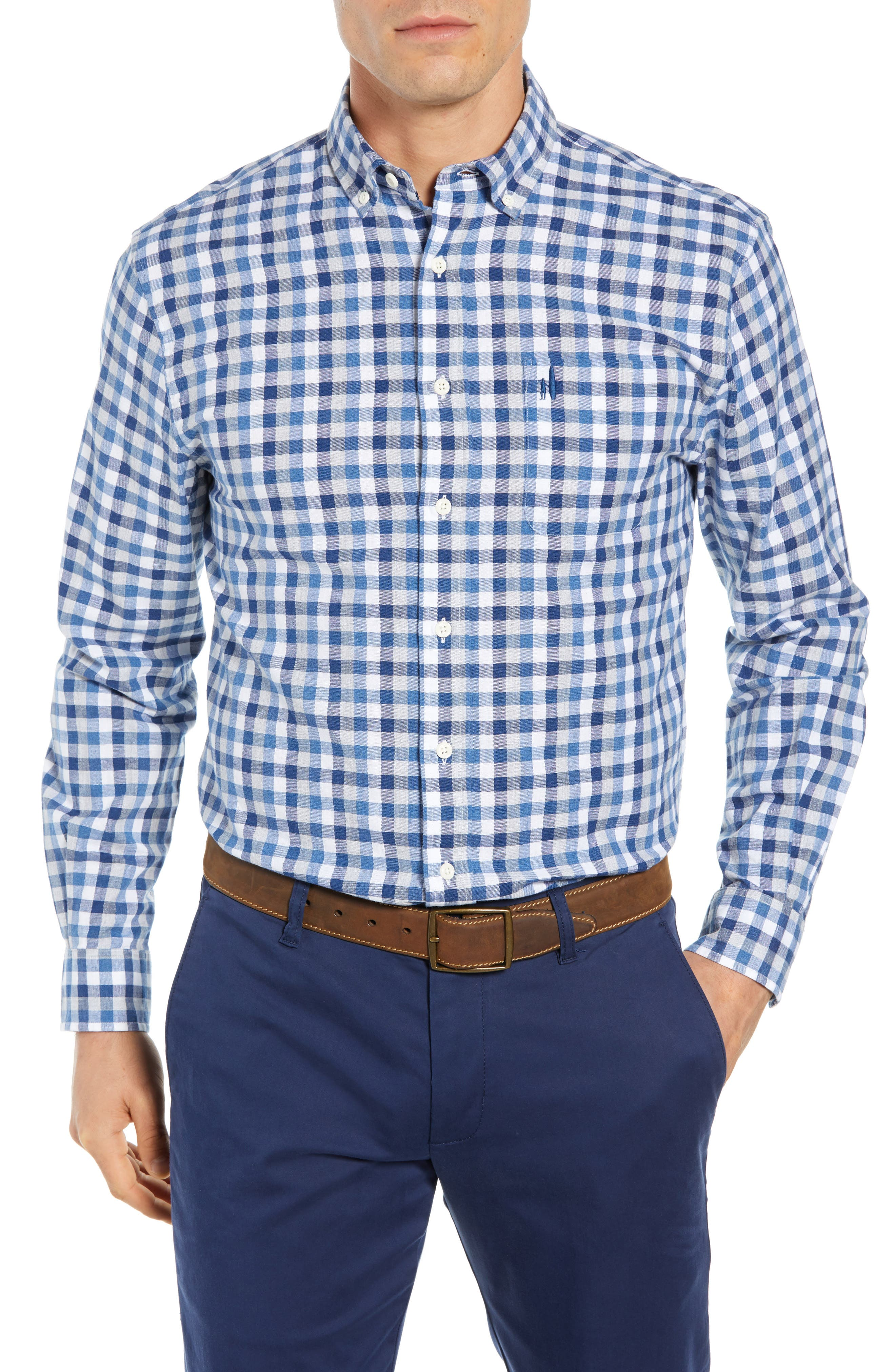 Arthur Classic Fit Sport Shirt,                         Main,                         color, MIDNIGHT
