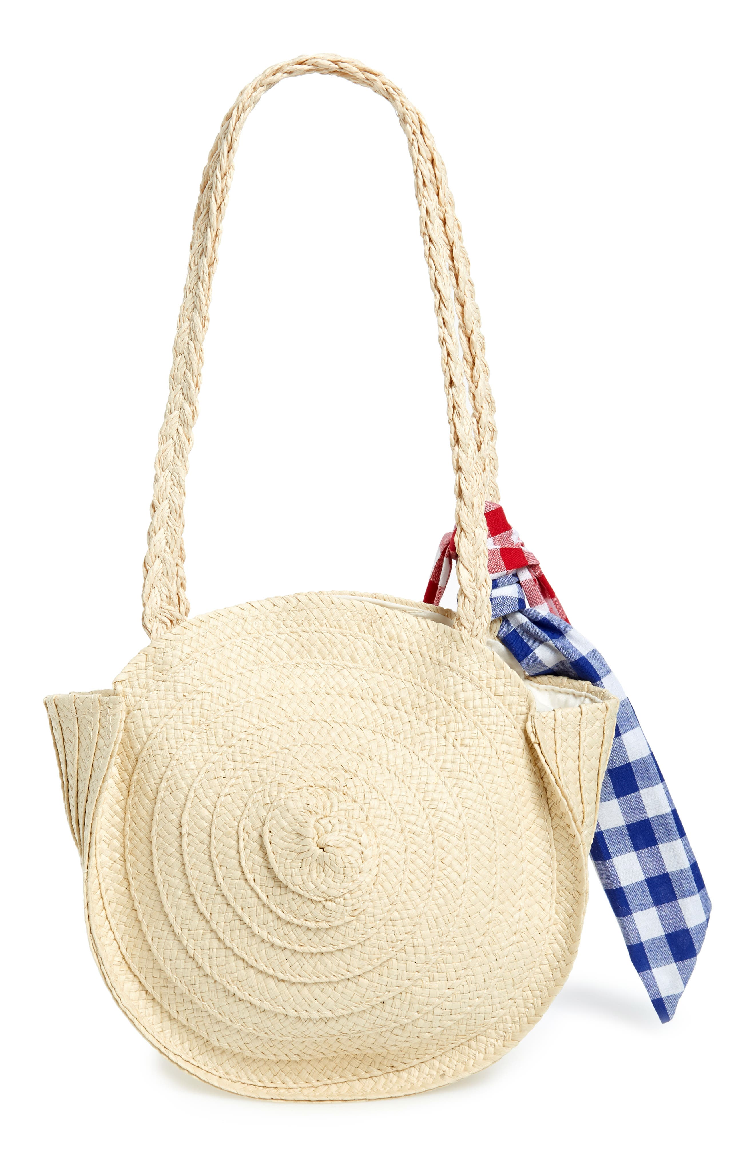 Straw Tote,                             Alternate thumbnail 2, color,                             BEIGE SWAN