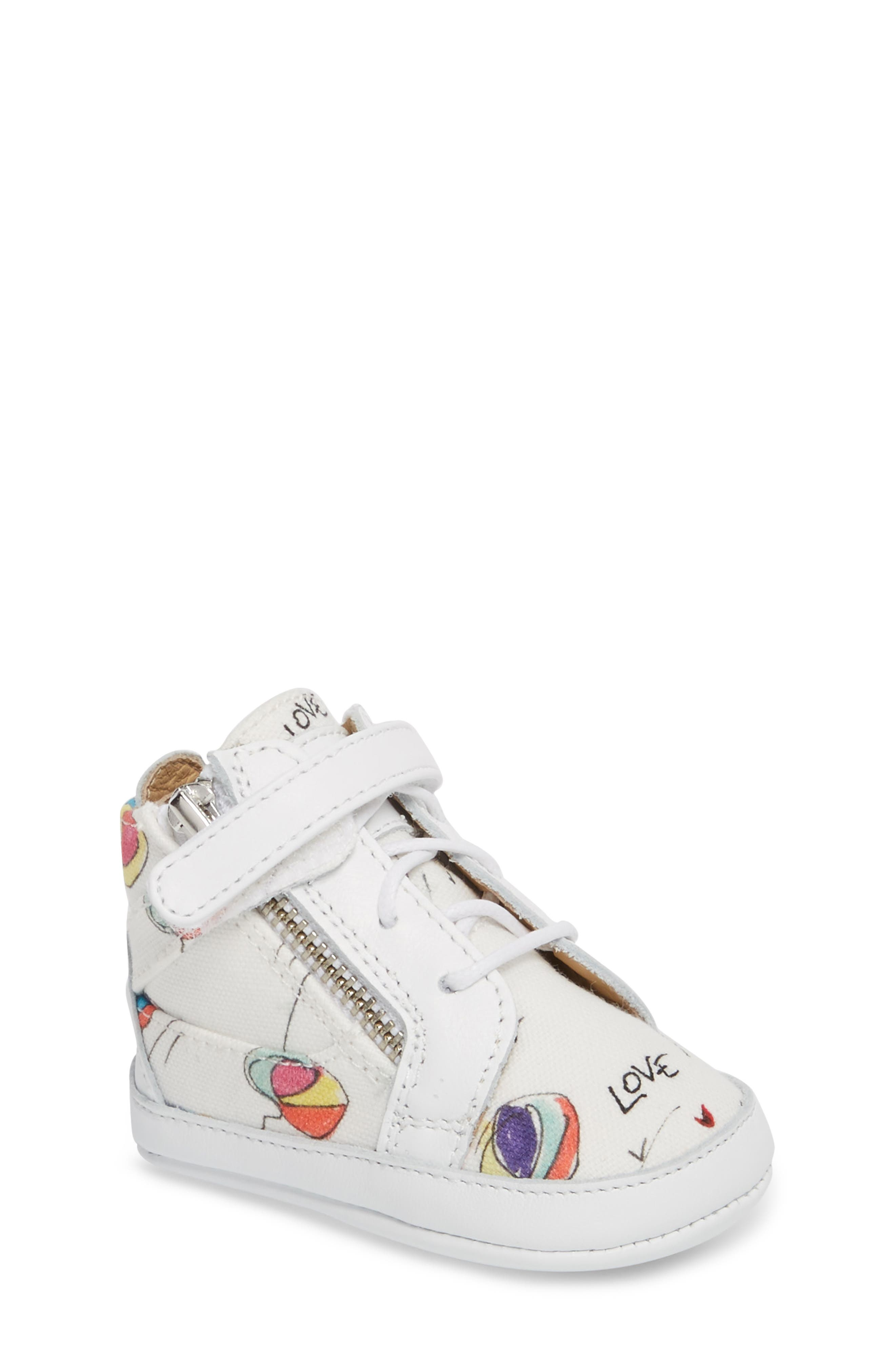 Culla London High Top Crib Sneaker,                             Main thumbnail 2, color,