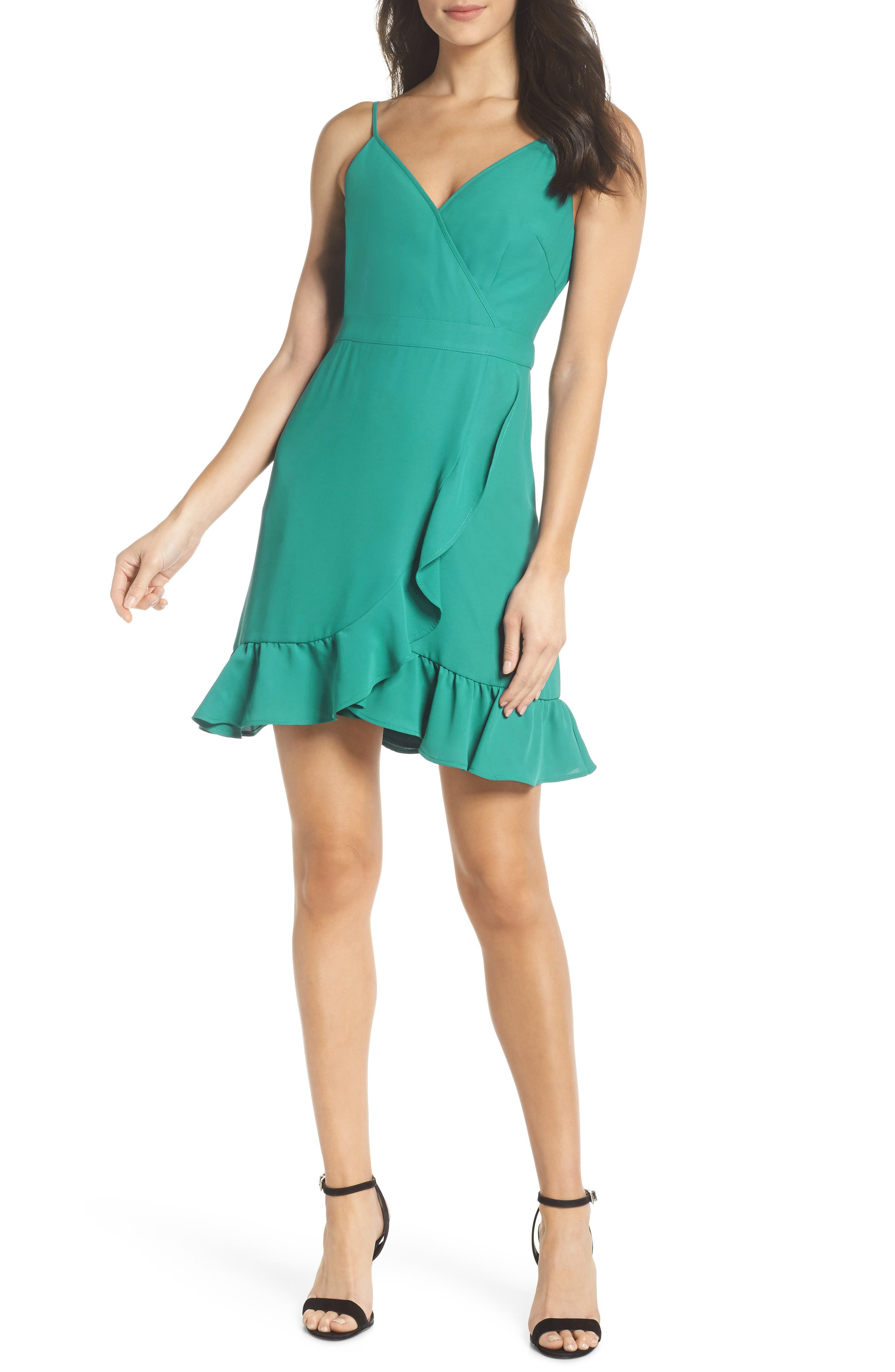 Crepe Skater Dress,                             Main thumbnail 1, color,                             454