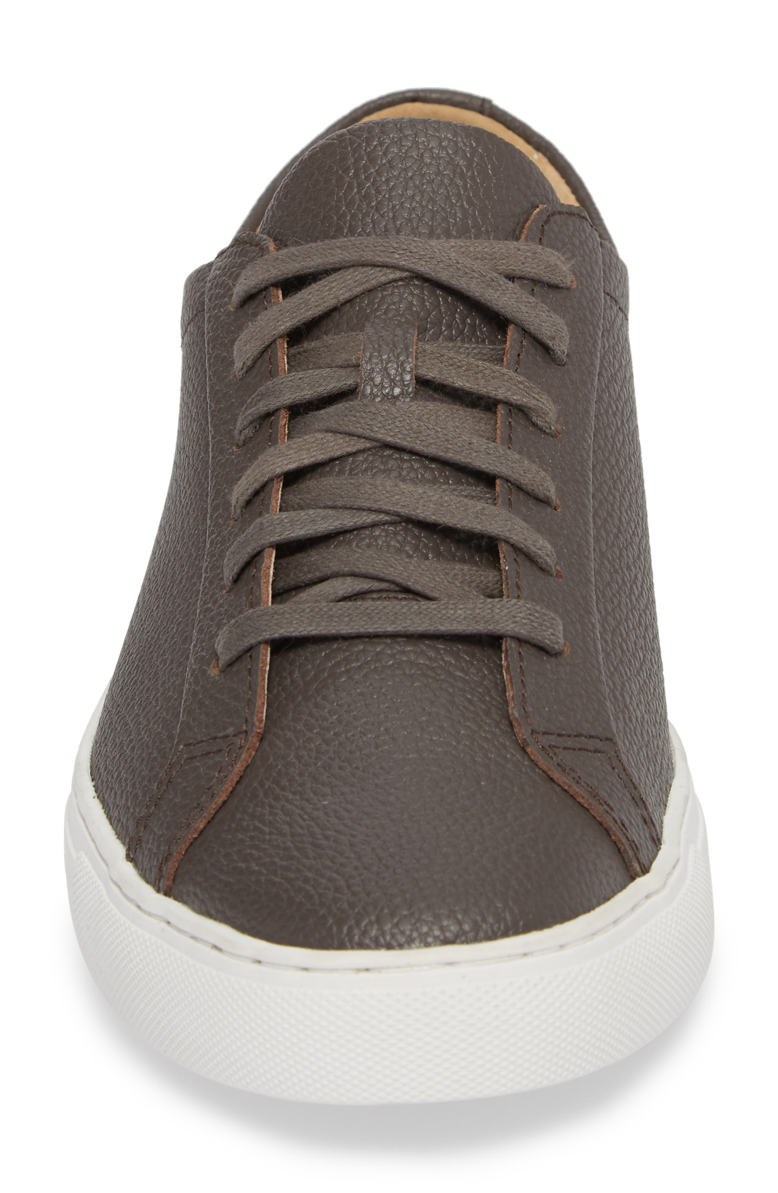 Kennedy Low Top Sneaker,                             Alternate thumbnail 4, color,                             FALCON LEATHER