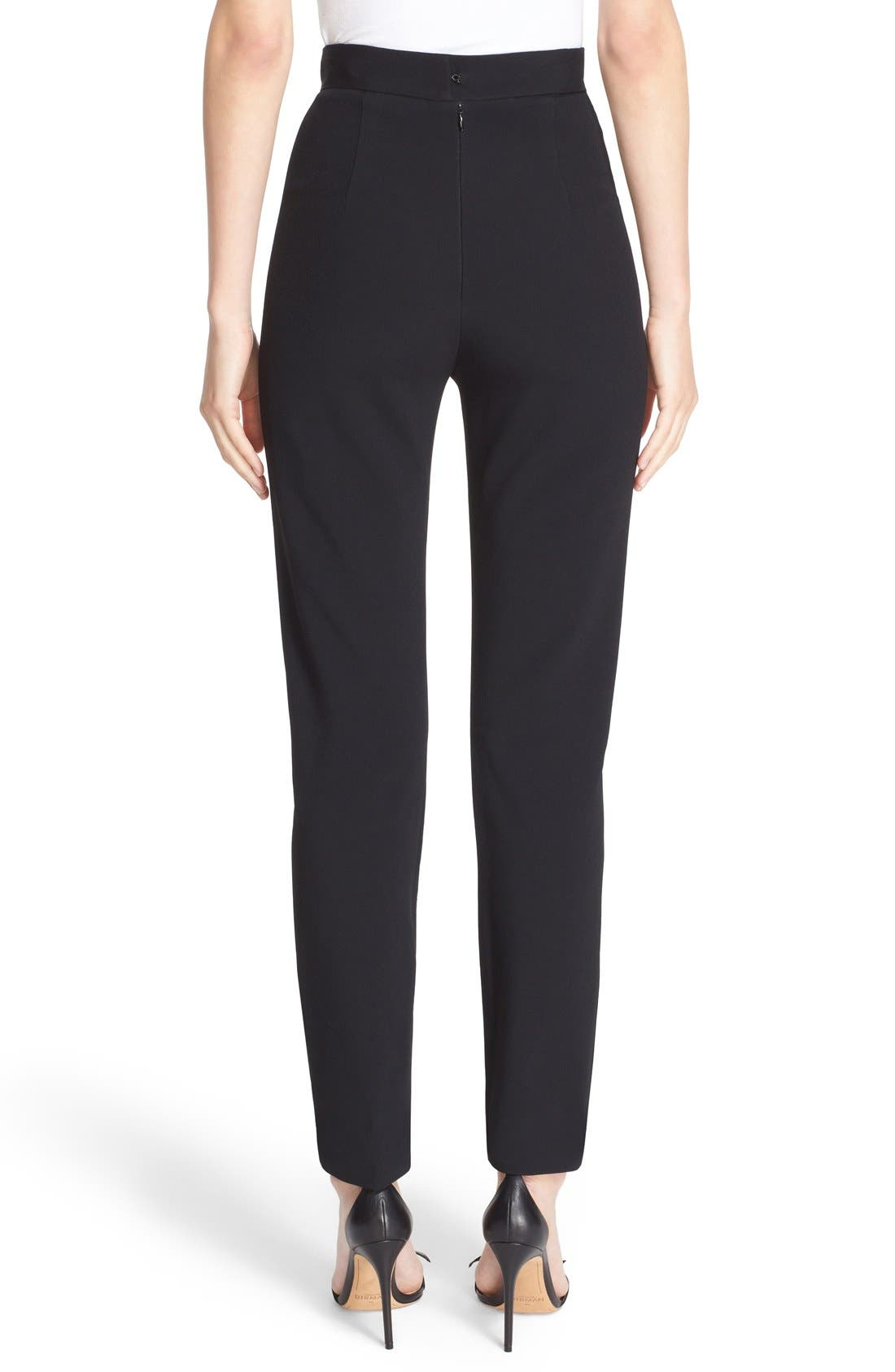 Skinny Cady Crepe Pants,                             Alternate thumbnail 8, color,