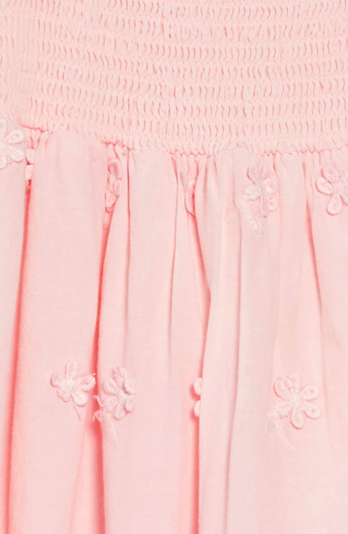 RUBY & BLOOM,                             Flutter Sleeve Dress,                             Alternate thumbnail 3, color,                             PINK CHINTZ