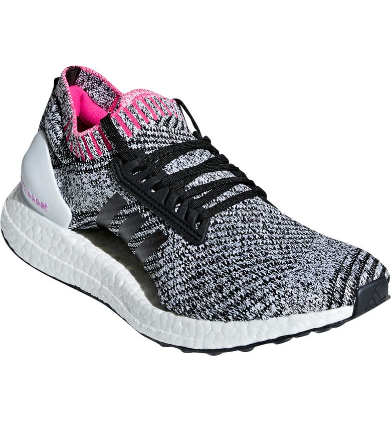 buy popular 87054 843f6 ADIDAS UltraBoost X Running Shoe, Main, color, WHITE BLACK SHOCK PINK