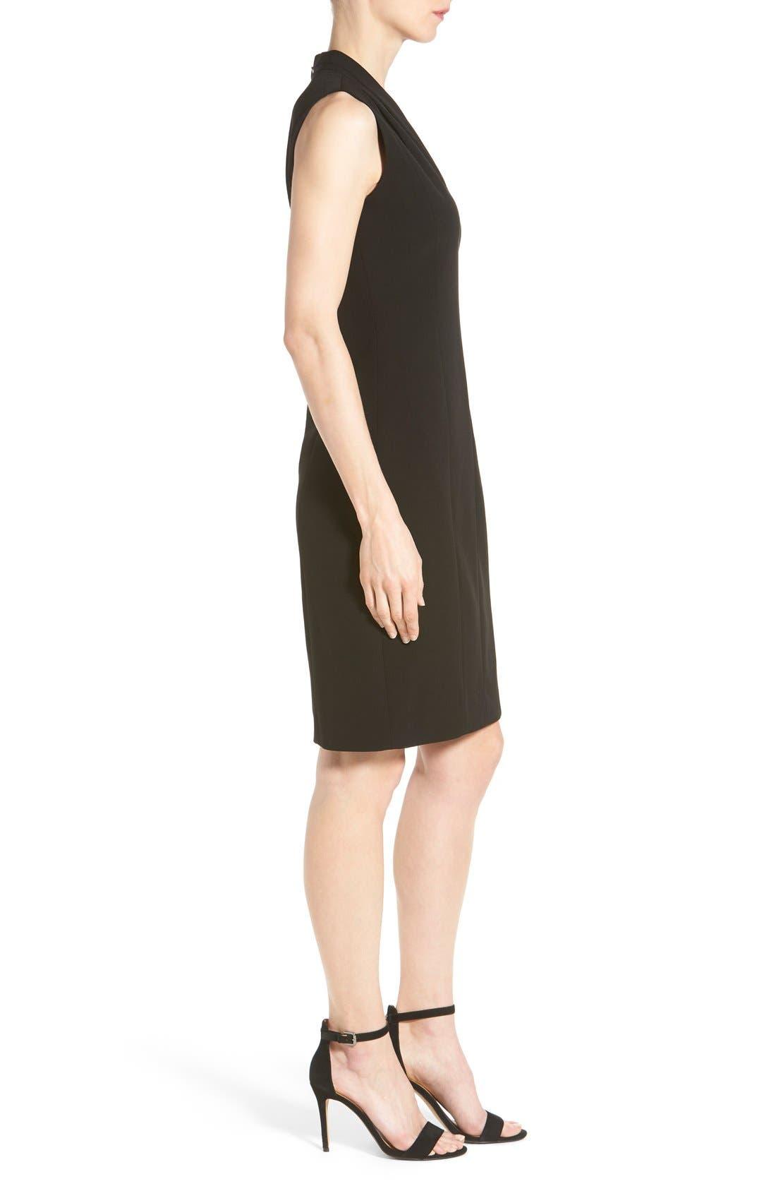 'Tonya' V-Neck Sheath Dress,                             Alternate thumbnail 5, color,