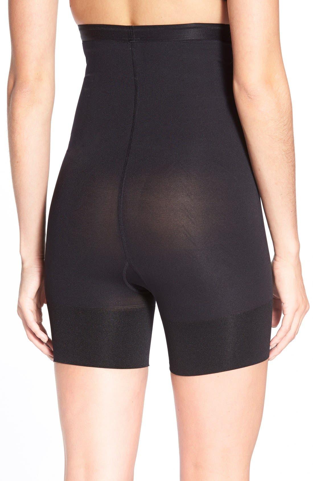 Shorty Shaping Shorts,                             Alternate thumbnail 4, color,                             BLACK